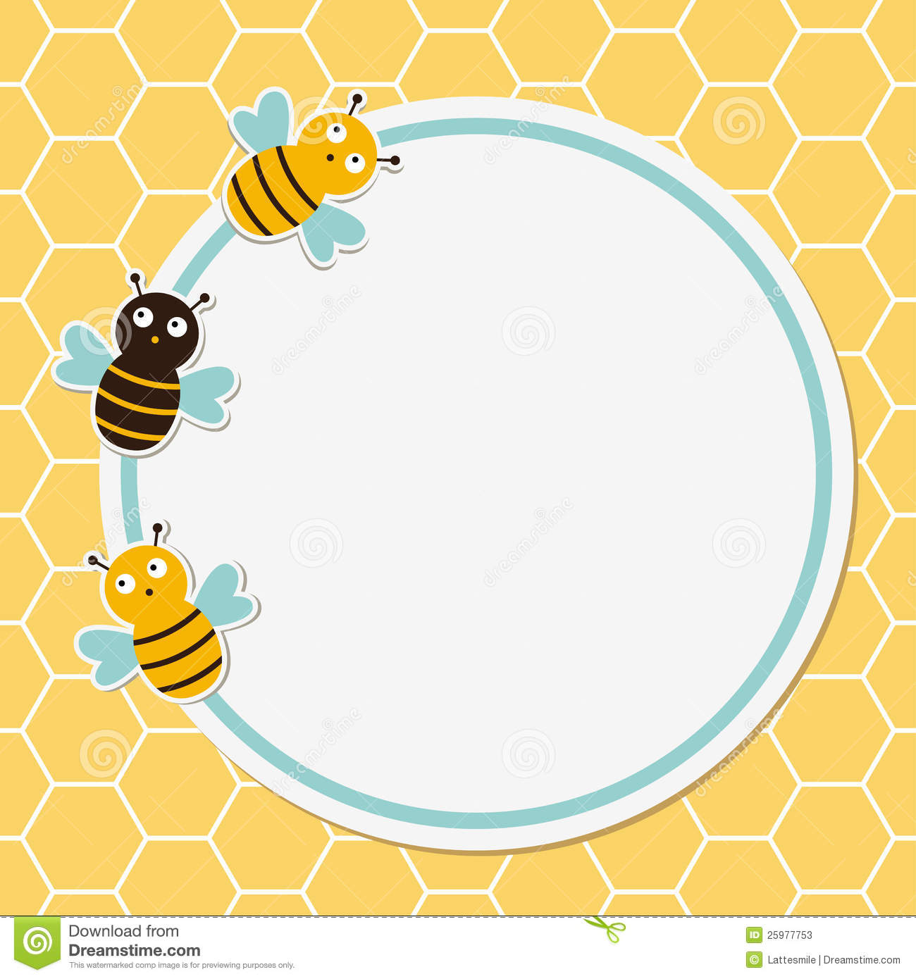 Bees Cute Frame Stock Vector Illustration Of Card