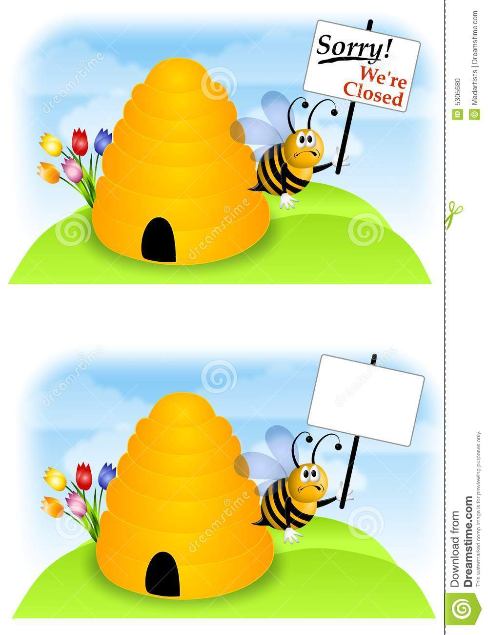 bees going out of business stock photo image 5305680