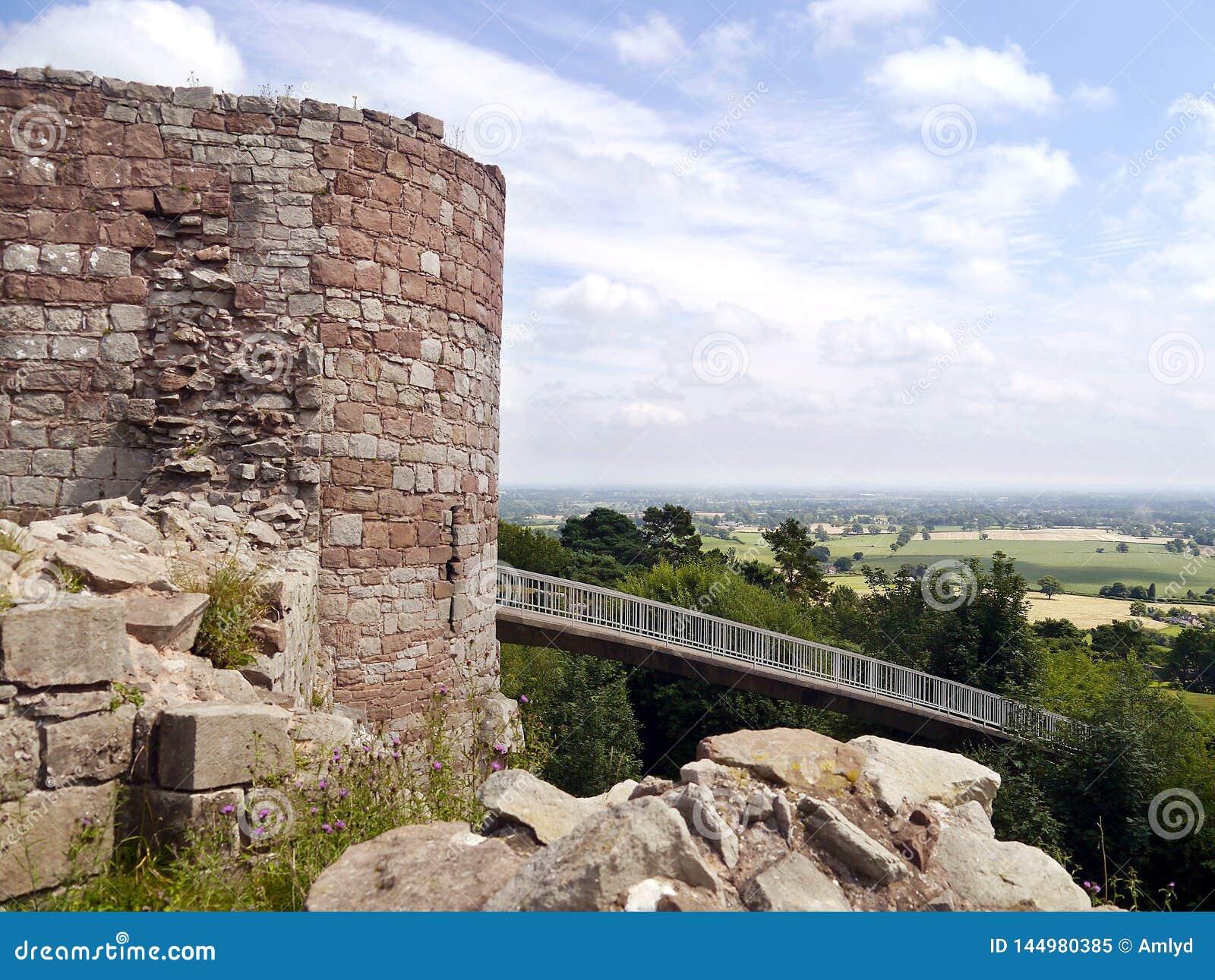 Beeston kasztelu battlements