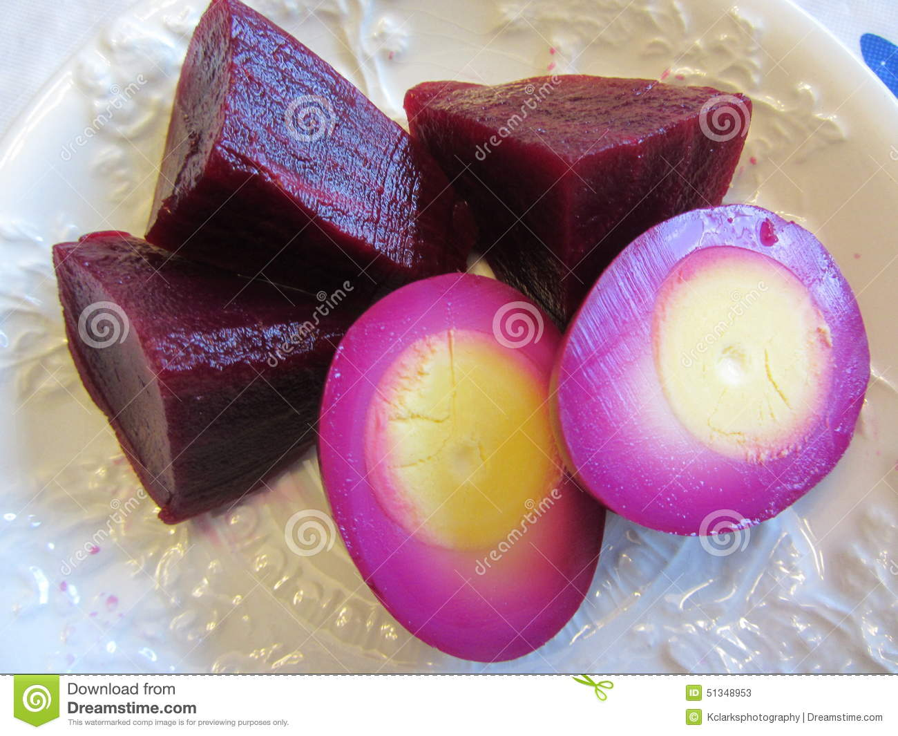 Beet Pickled Hard Boiled Eggs Stock Photo - Image: 51348947