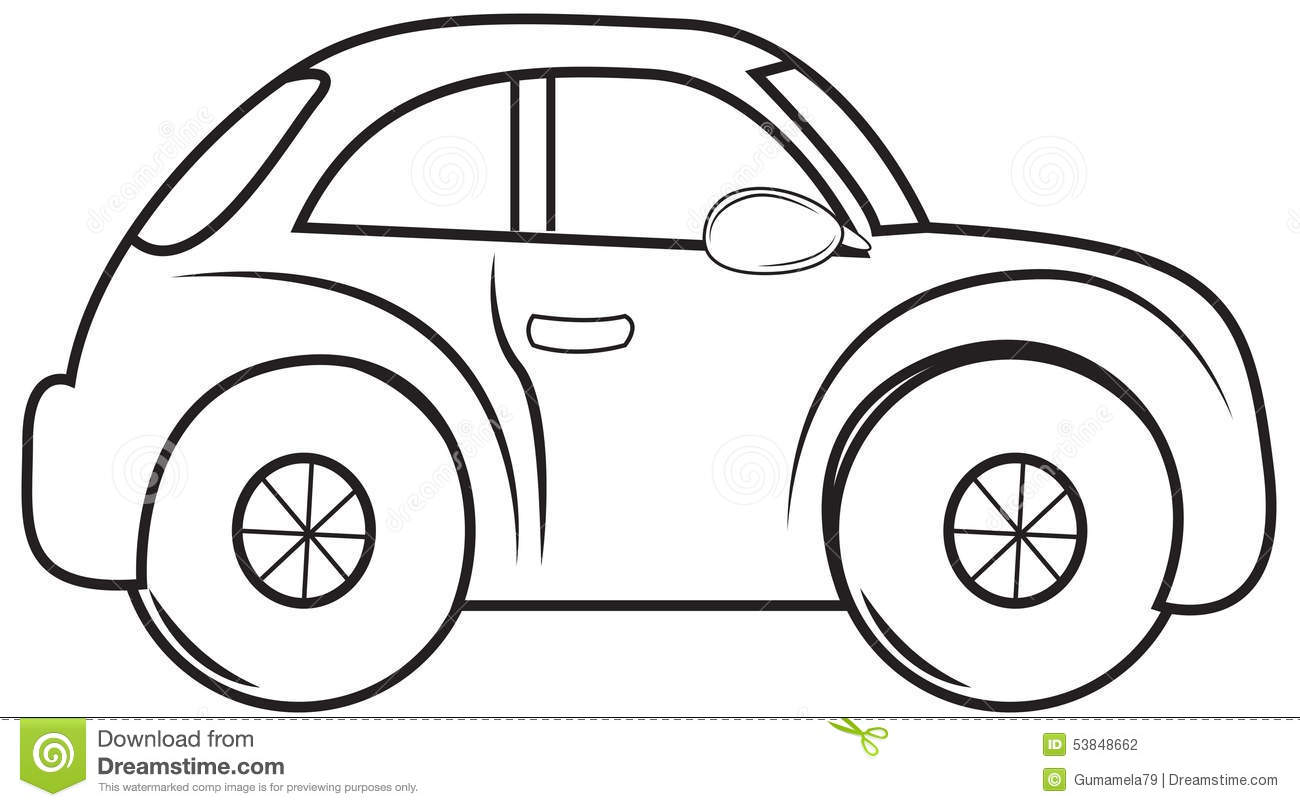 Beetle Car Coloring Page Stock Illustration Image 53848662