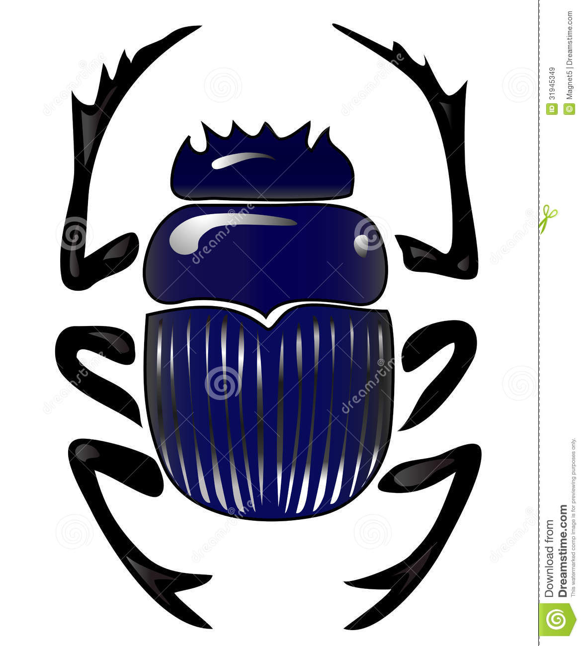 Beetle Scarab Stock Vector Illustration Of Representation 31945349