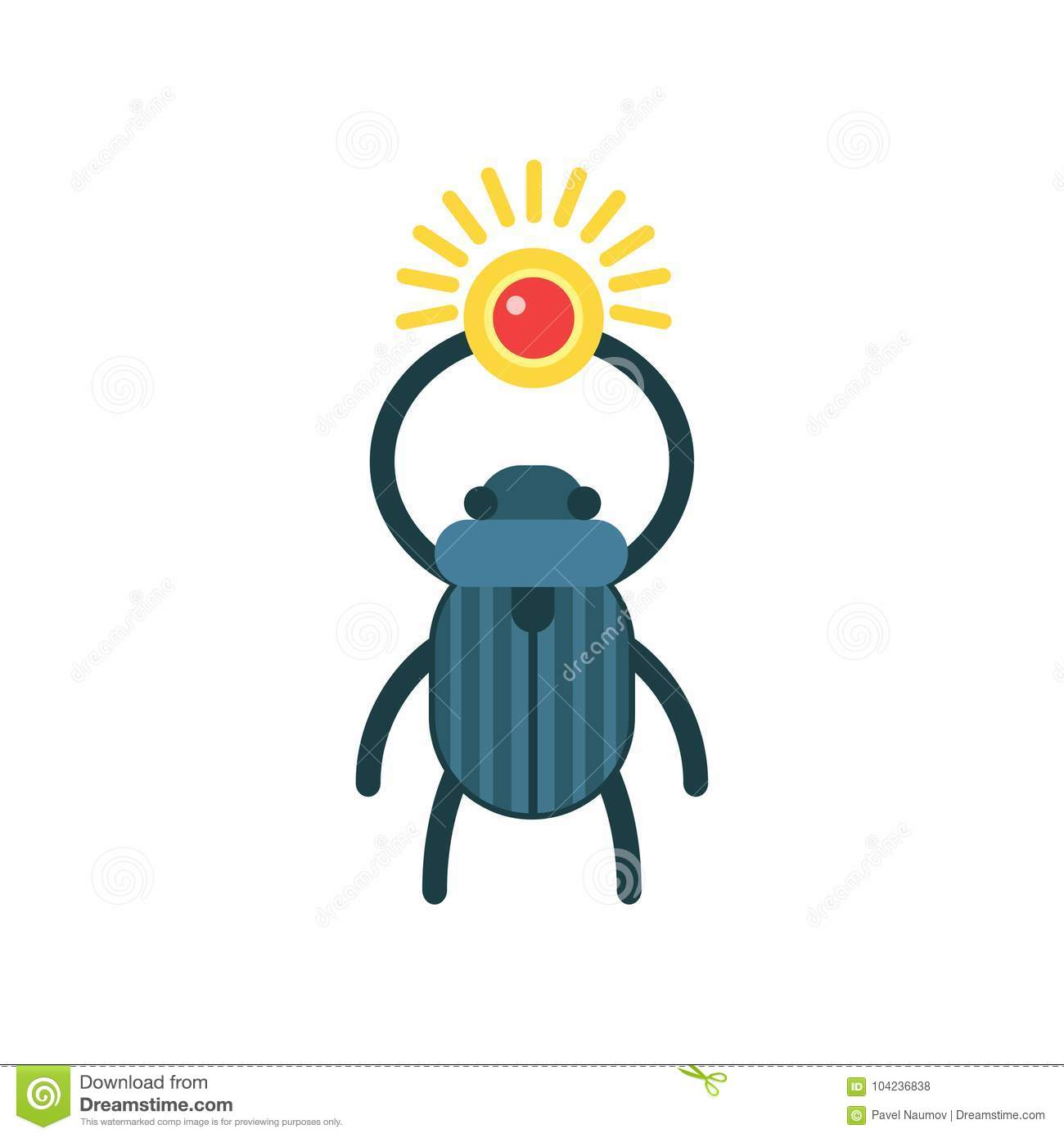 beetle scarab with sun symbol of ancient egypt traditional rh dreamstime com Free Sun Graphics Free Mountain Vector