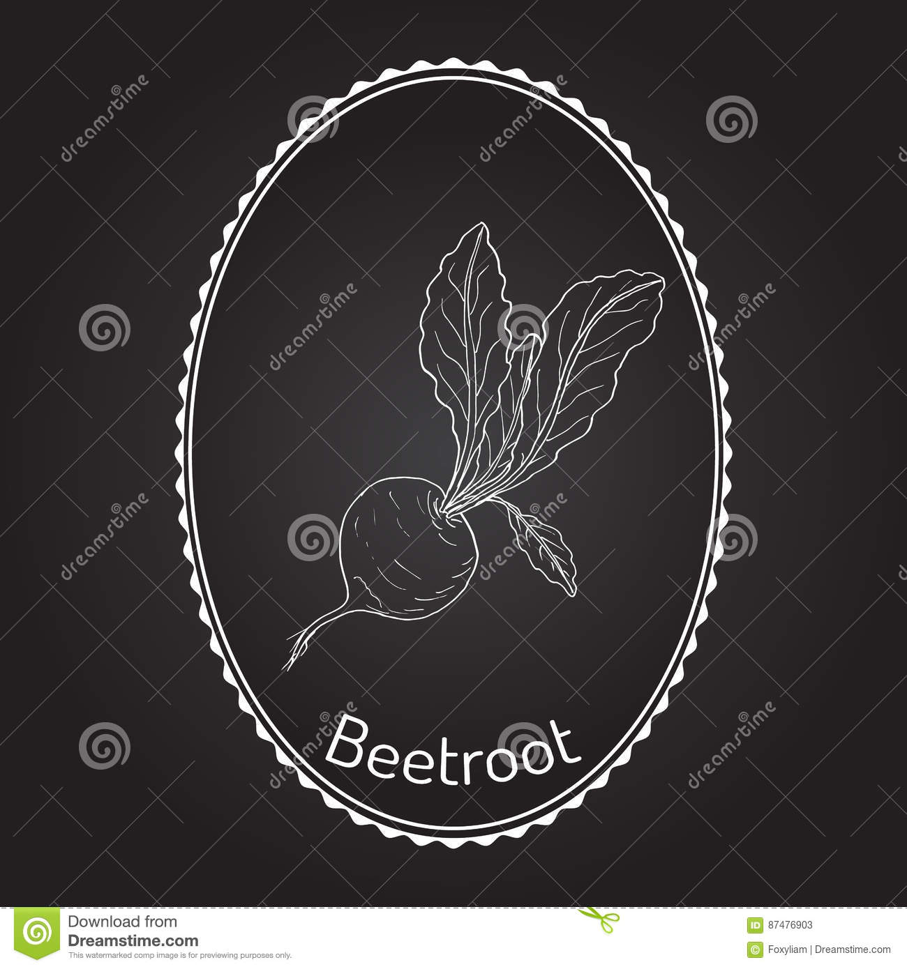 Beetroot with green leaves