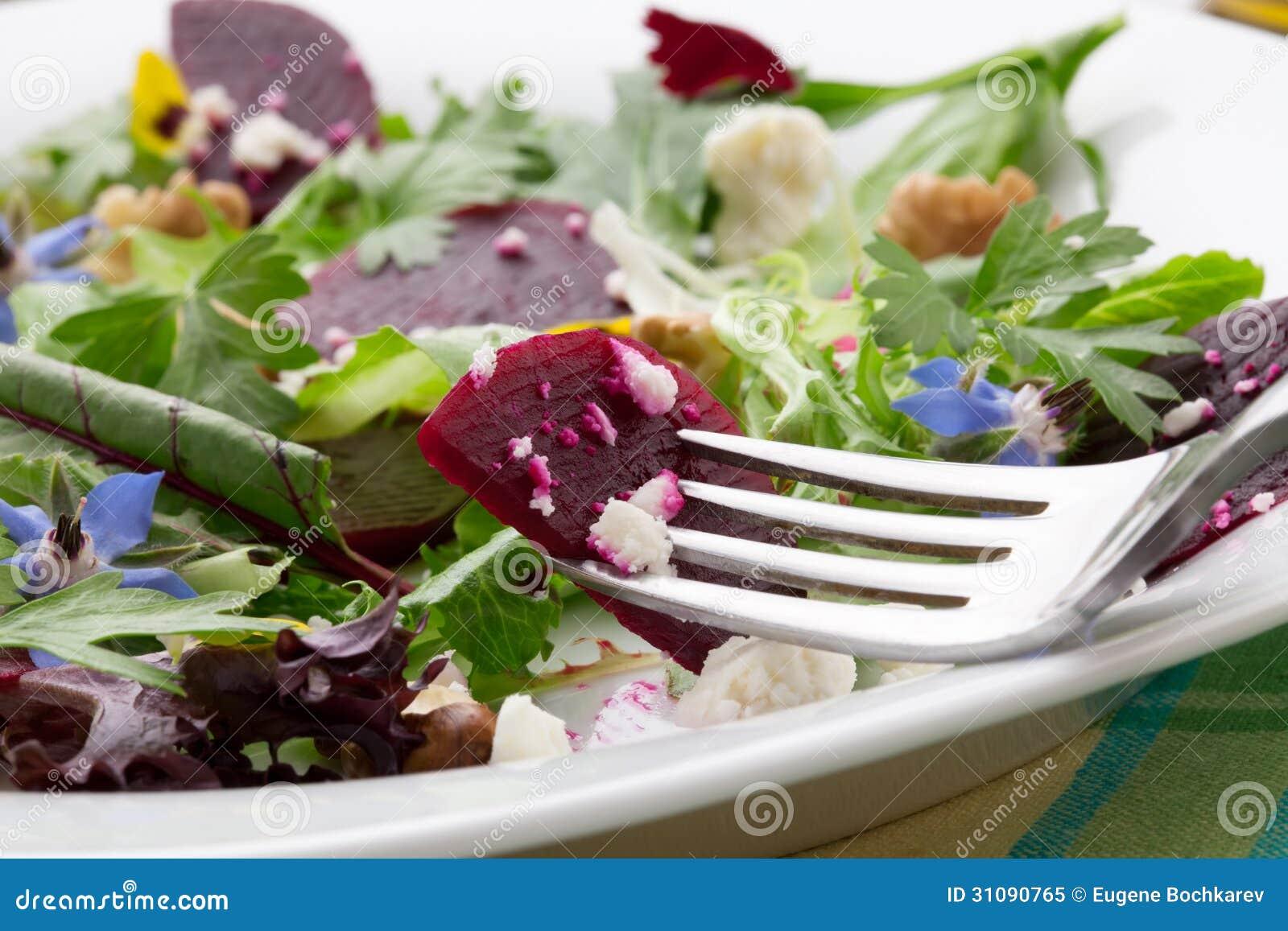 Beets And Baby Greens Salad Royalty Free Stock Photo - Image: 31090765