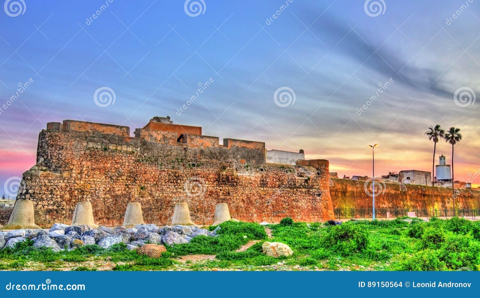 Befästningar av den portugisiska staden av Mazagan i El-Jadidia, Marocko