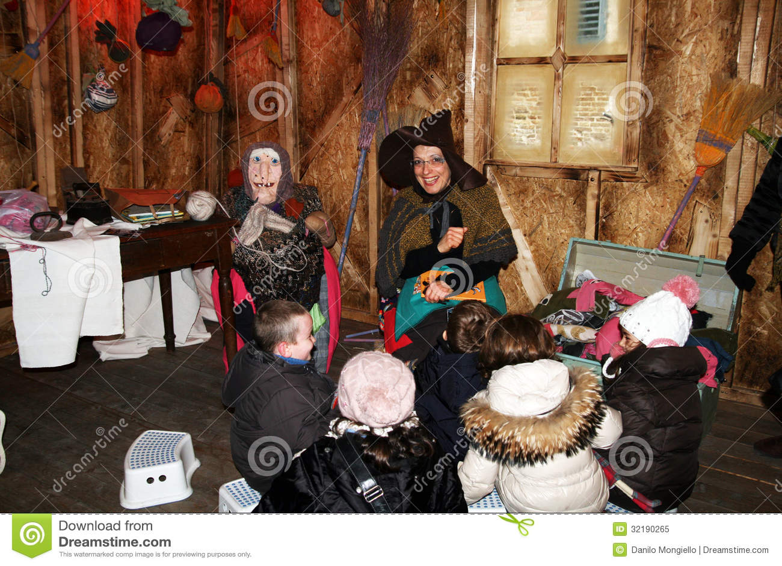 Befana and children