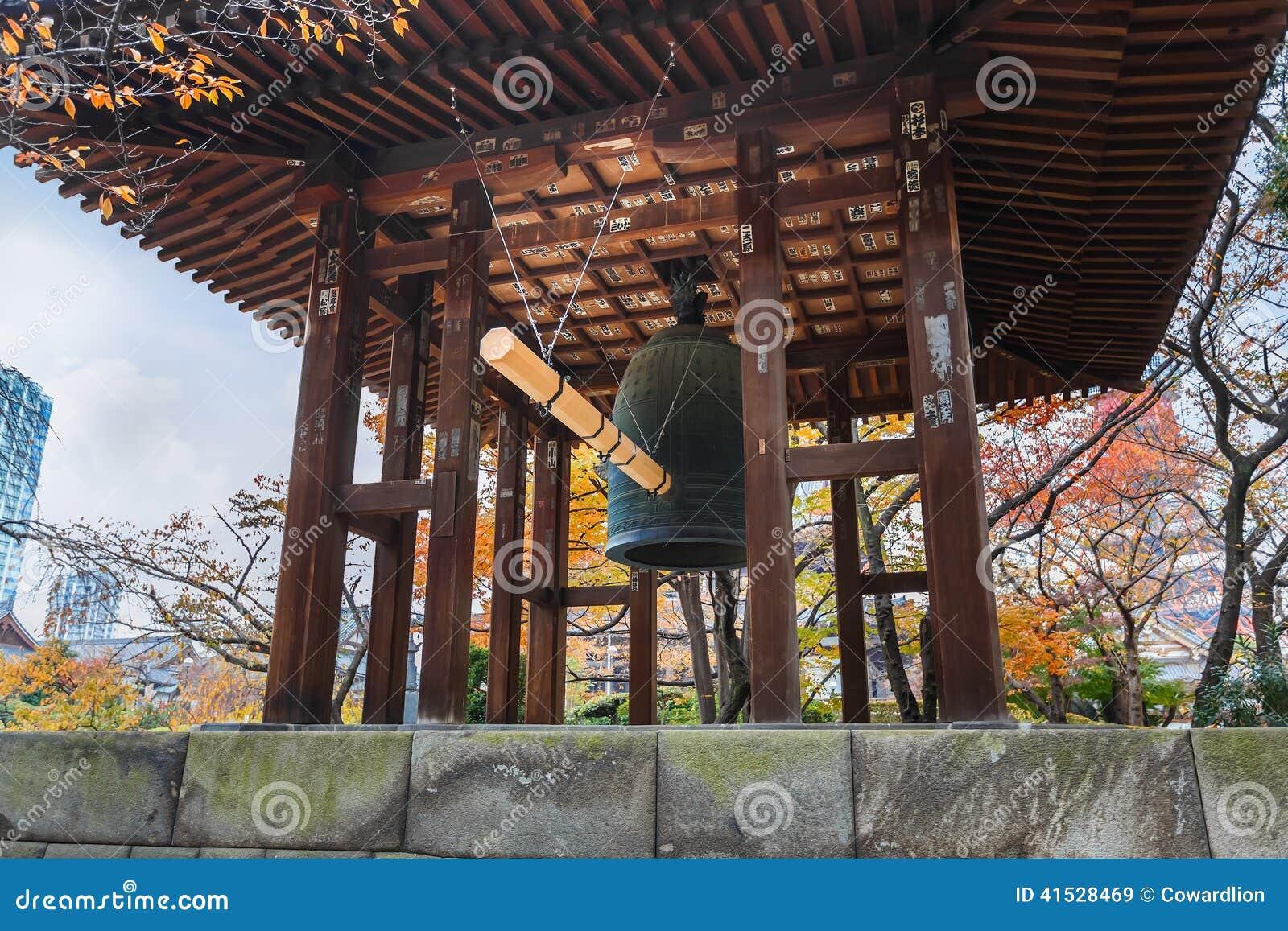 Beffroi au temple de Zojoji à Tokyo