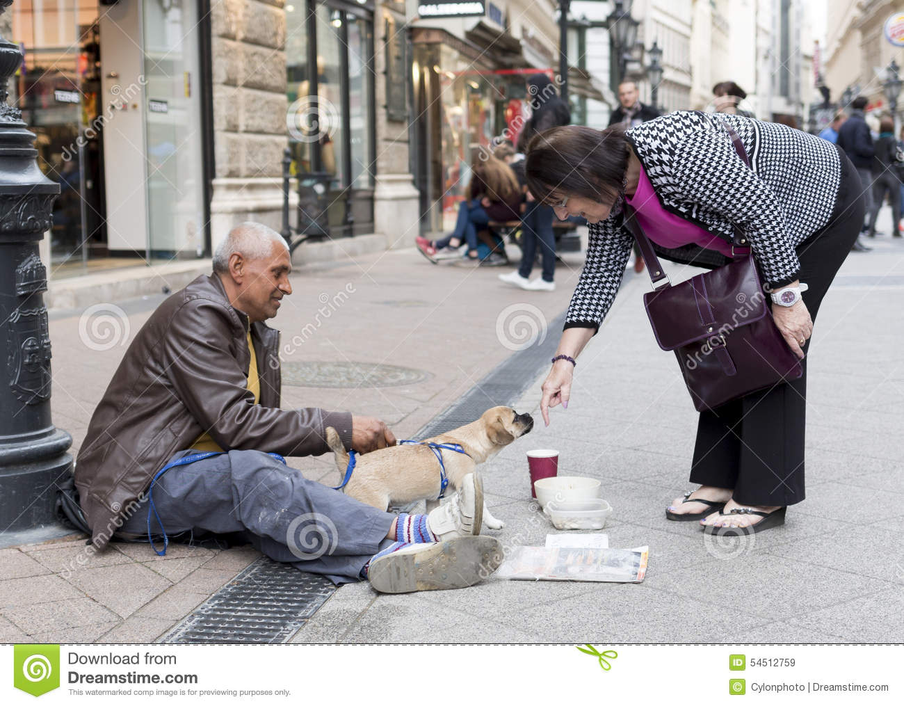 Beggar With Dog Editorial Stock Image Image 54512759