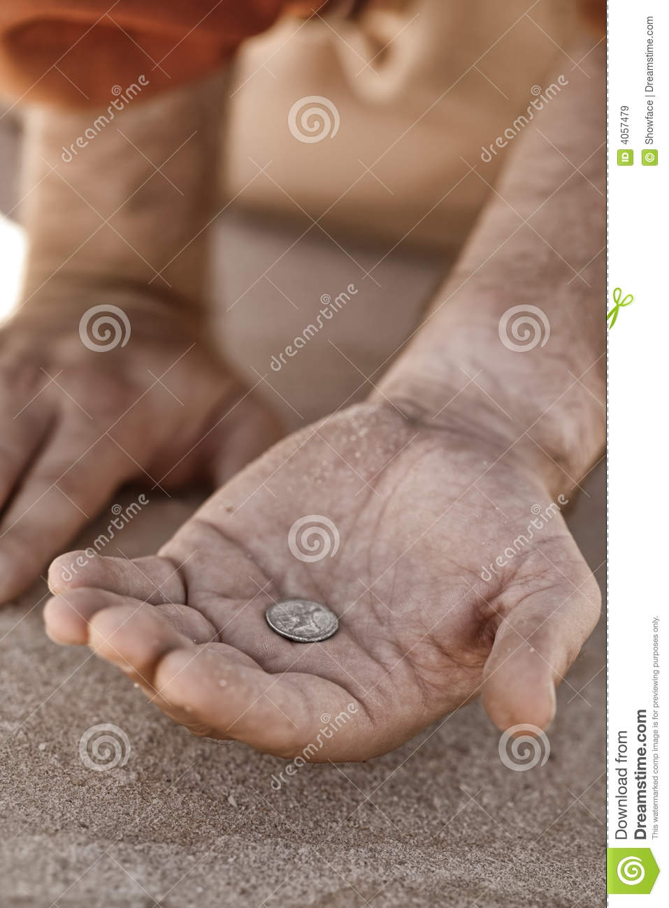 Beggar hand with coin stock image. Image of destitute ...  Beggar hand wit...