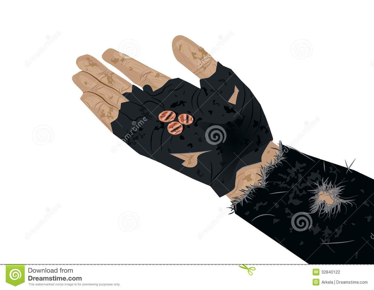 Beggar Hand With Coins Stock Photography - Image: 32840122  Beggar Hand Wit...