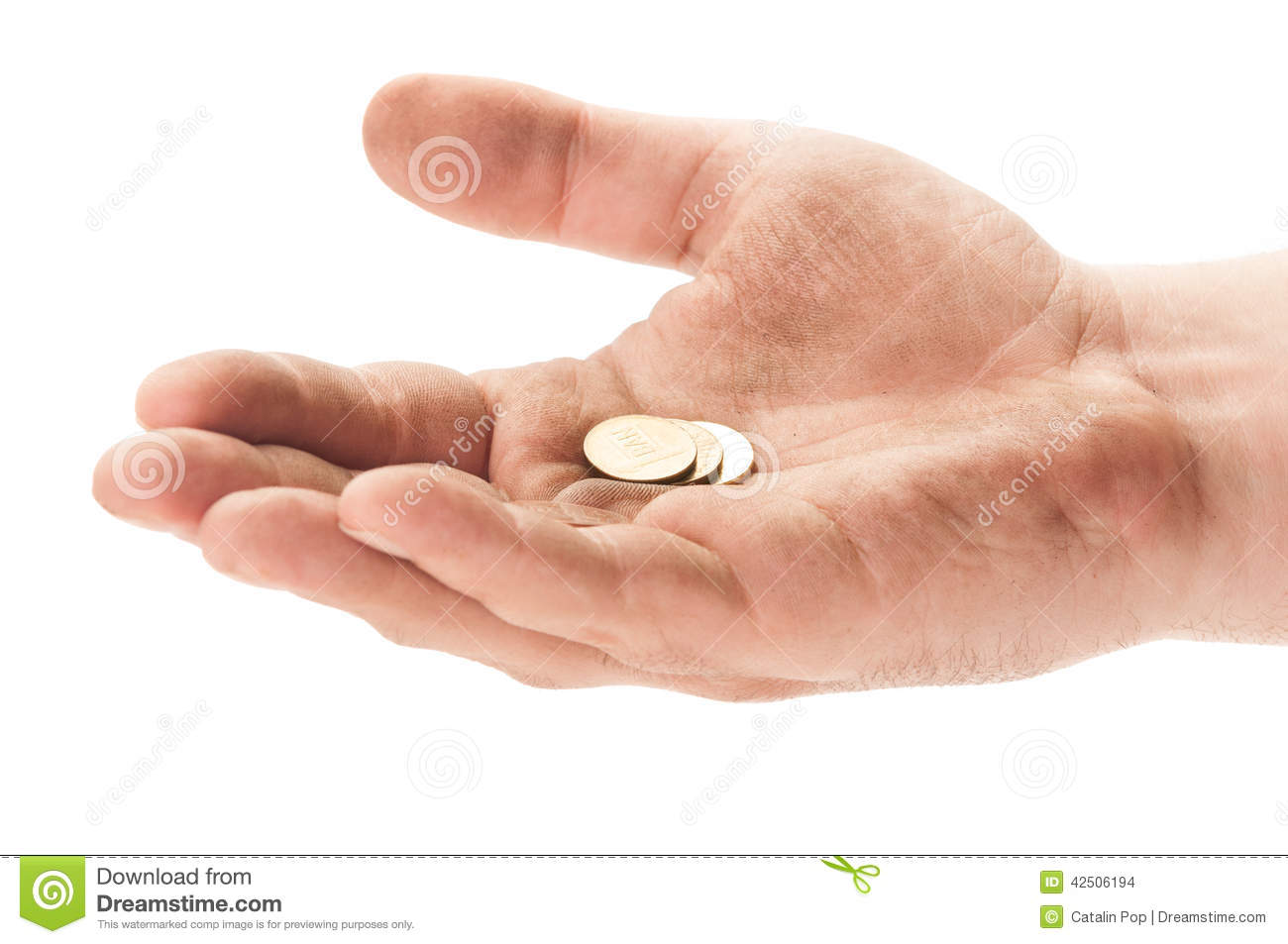 Beggar Hand With Some Coins Stock Photo - Image of coins ...  Beggar Hand Wit...