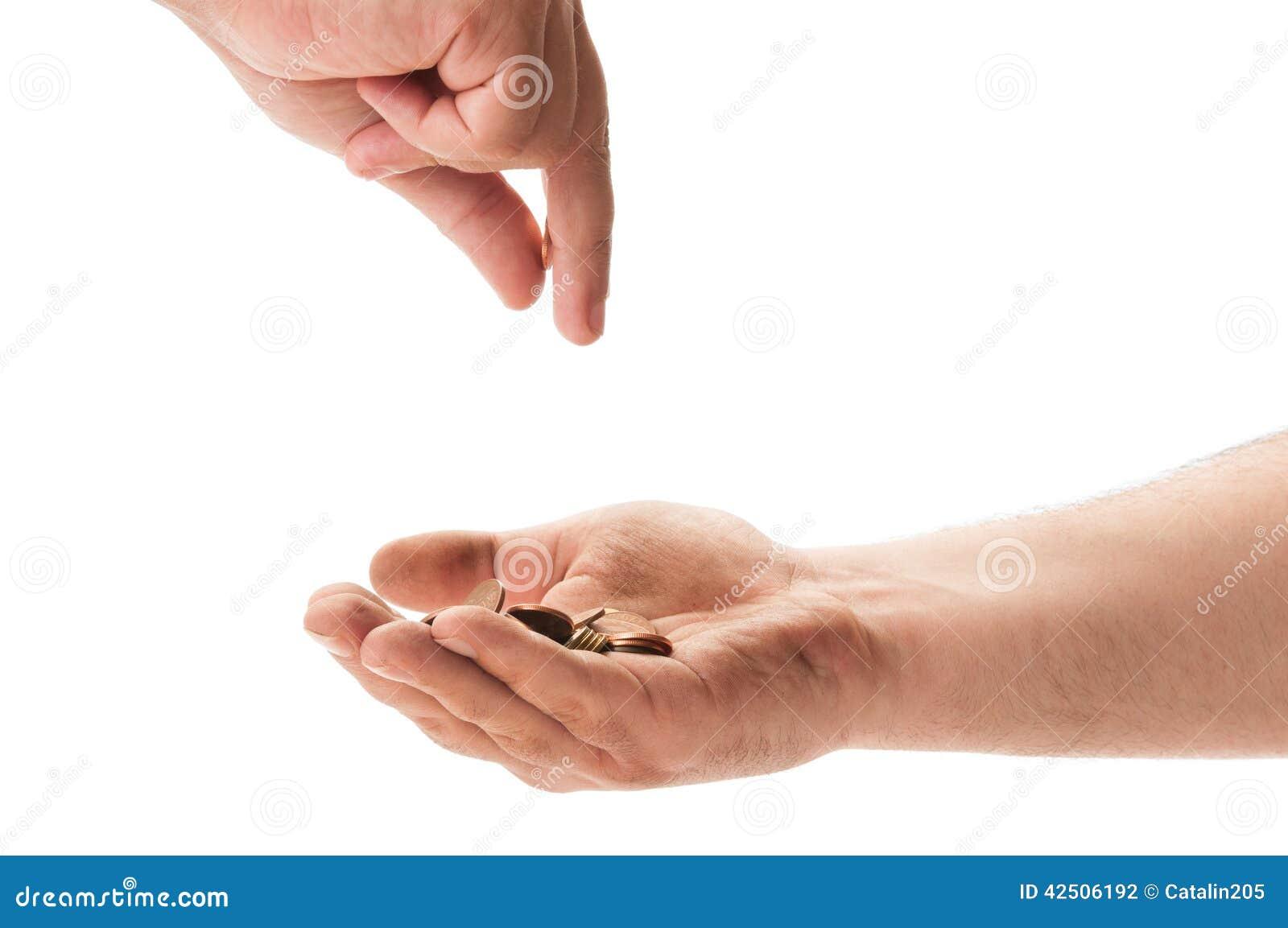Beggar receiving coins stock photo. Image of begging ...  Beggar receivin...