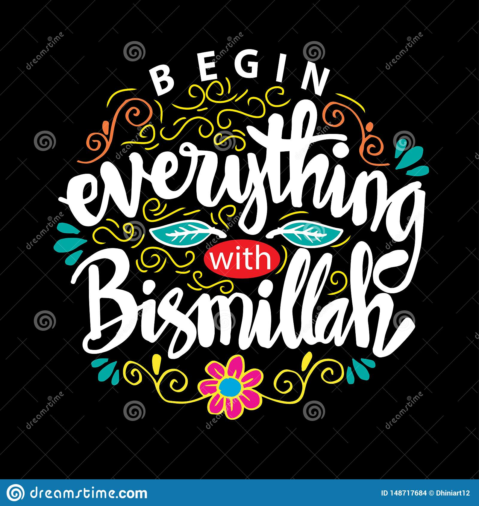 Begin everything with Bismillah.