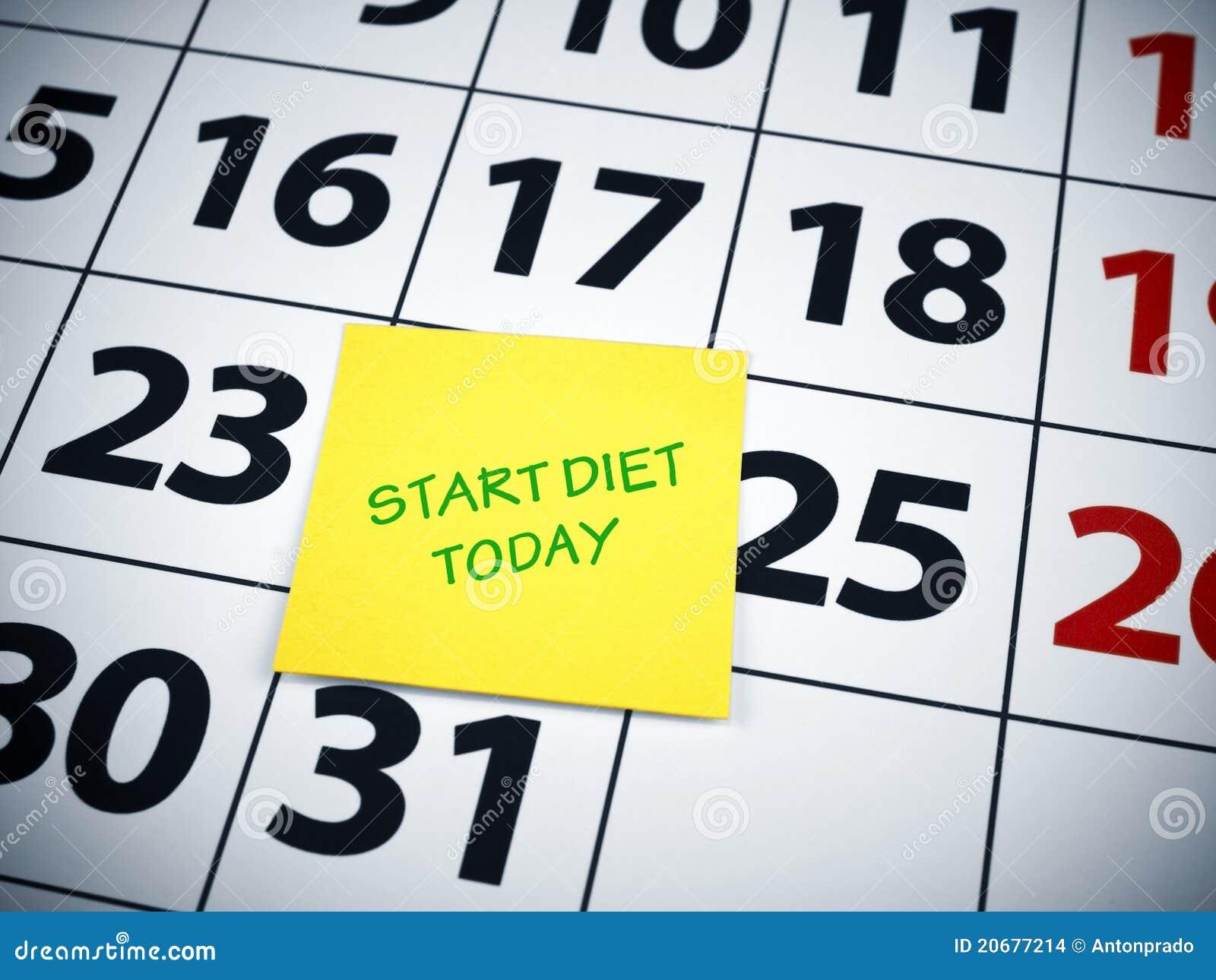 Beginnen Sie Diät heute