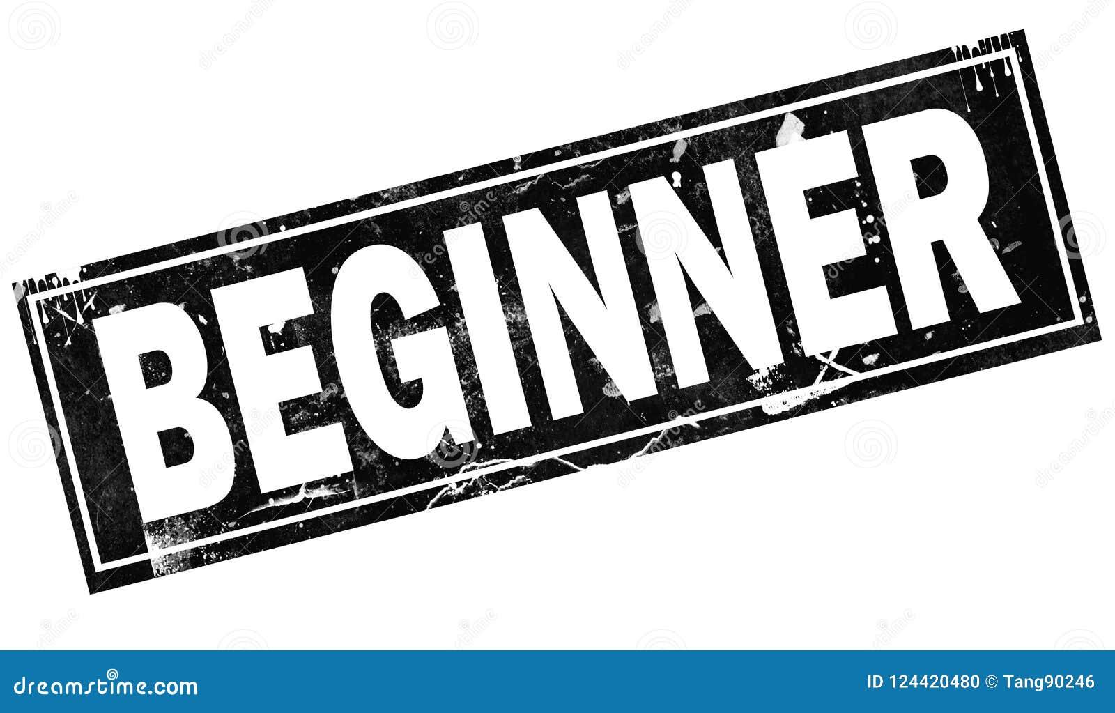 Beginner Word With In Black Frame Word Stock Illustration ...