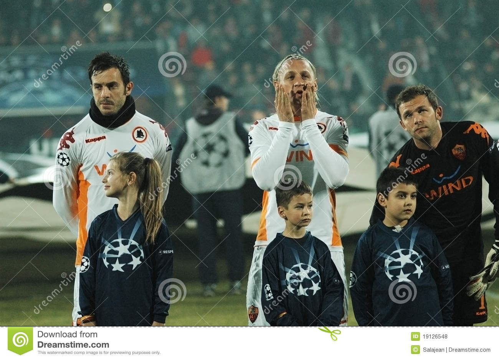 Beginning Of AS Roma - CFR Cluj Match Editorial Stock ...