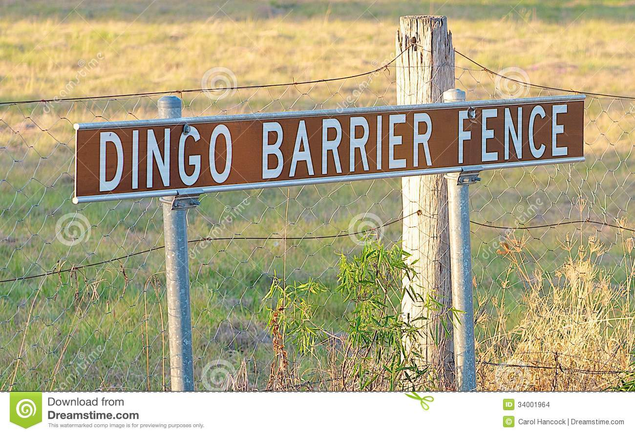 The Beginning Of The Dingo Fence Queensland Australia Stock Images ...
