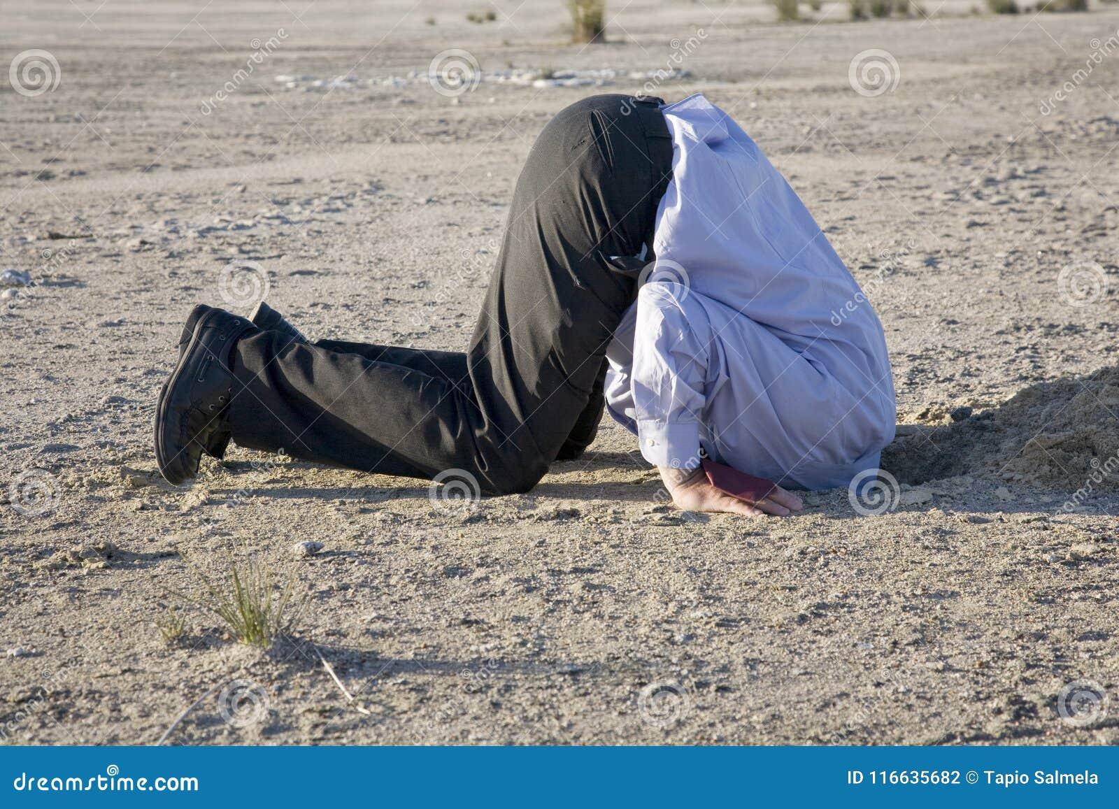 Begrava ditt huvud i sanden