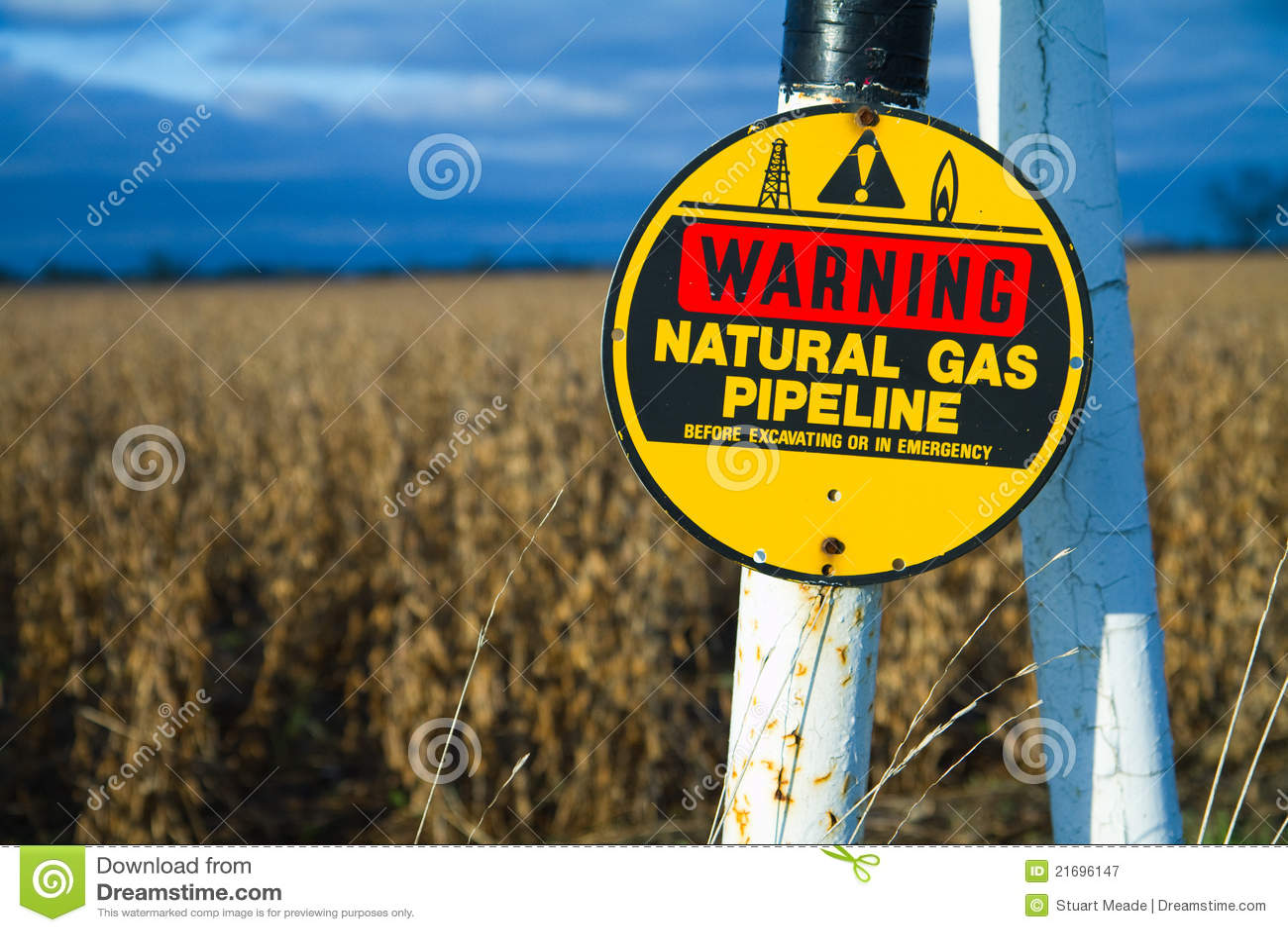 Begravd varning för gaspipeline