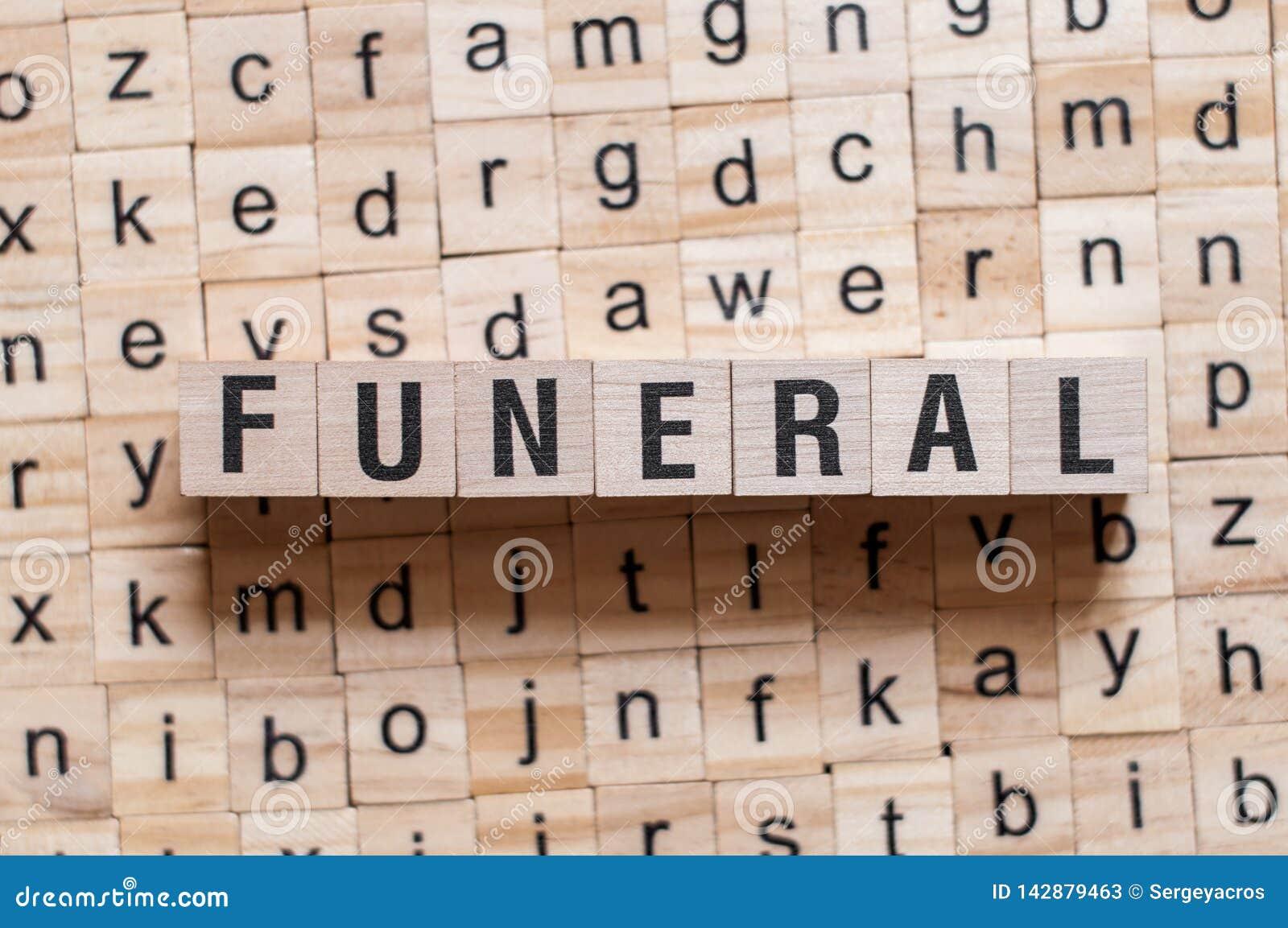 Begravnings- ordbegrepp
