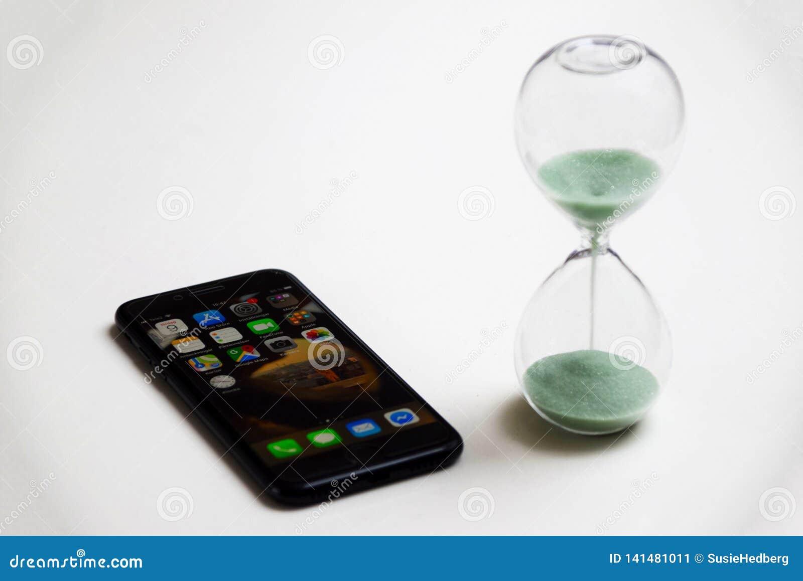 Begrenzen Sie die Zeit, die am intelligenten Telefon verbracht wird