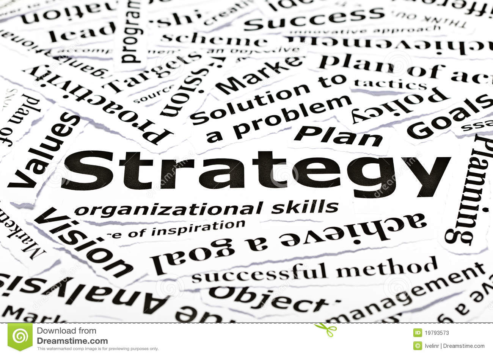 Begrepp andra släkta strategiord