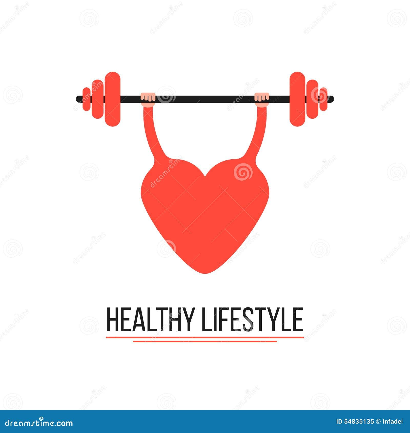 Begrepp av den sunda livsstilen med utbildningshjärta