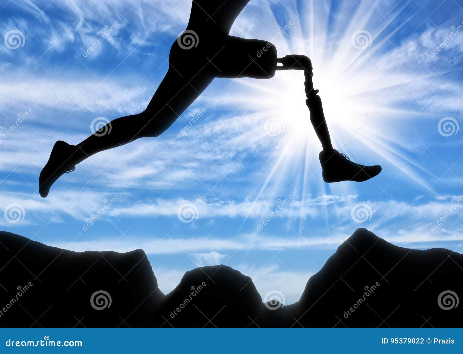 Begrepp av handikappet, prosthetic ben