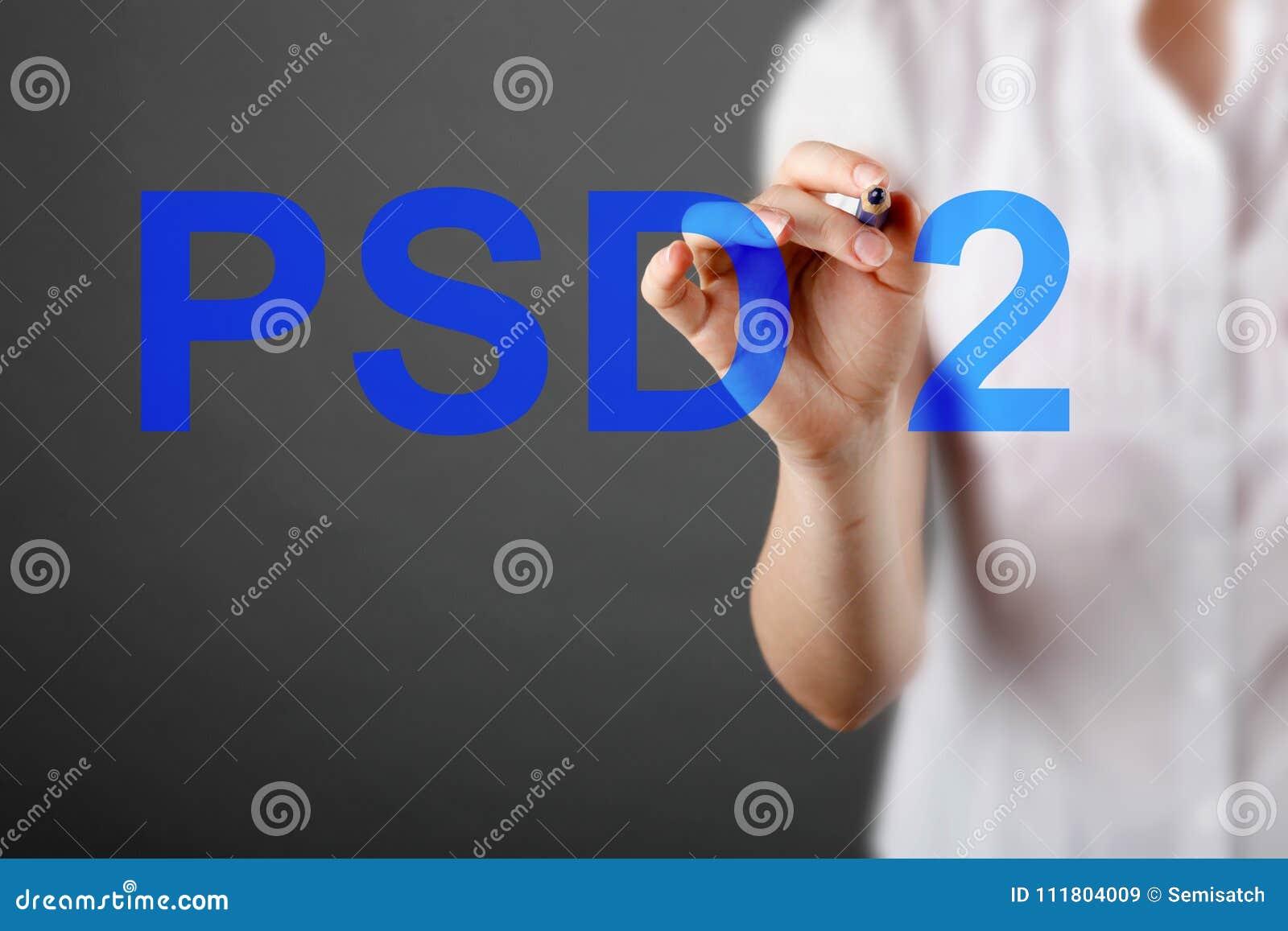 Begrepp av PSD2 - betalning servar direktiv