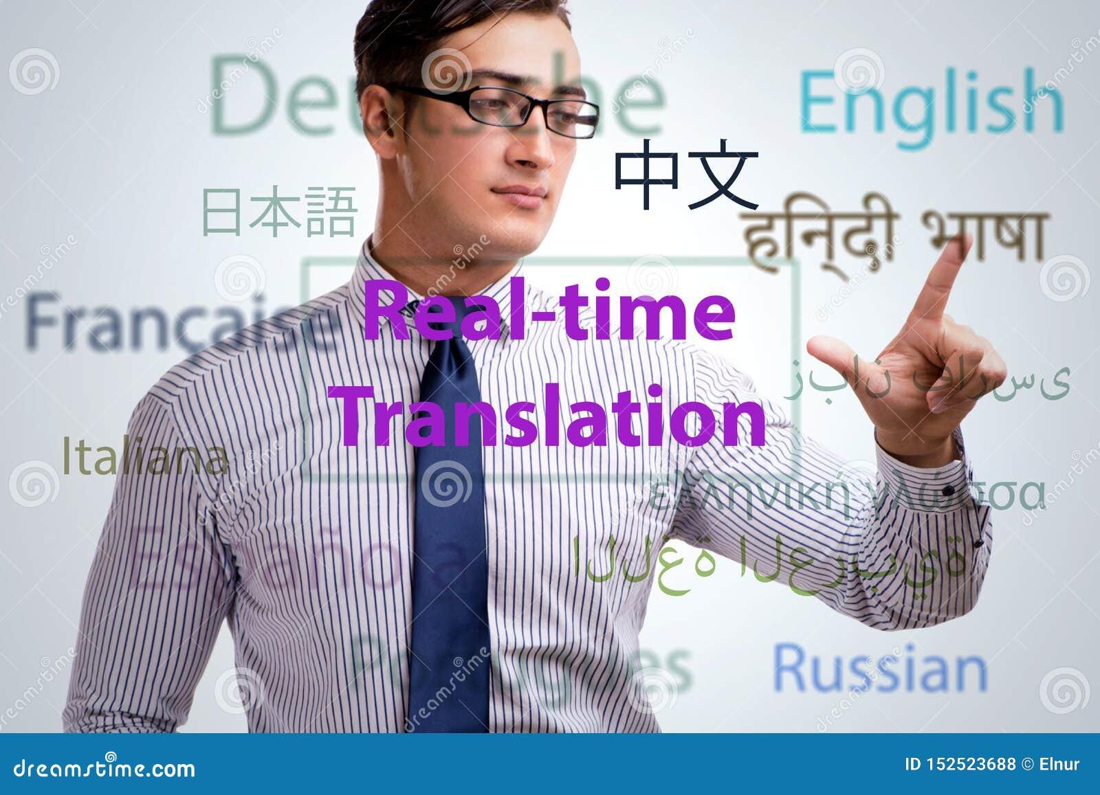 Begrepp av realtidsöversättningen från utländskt språk