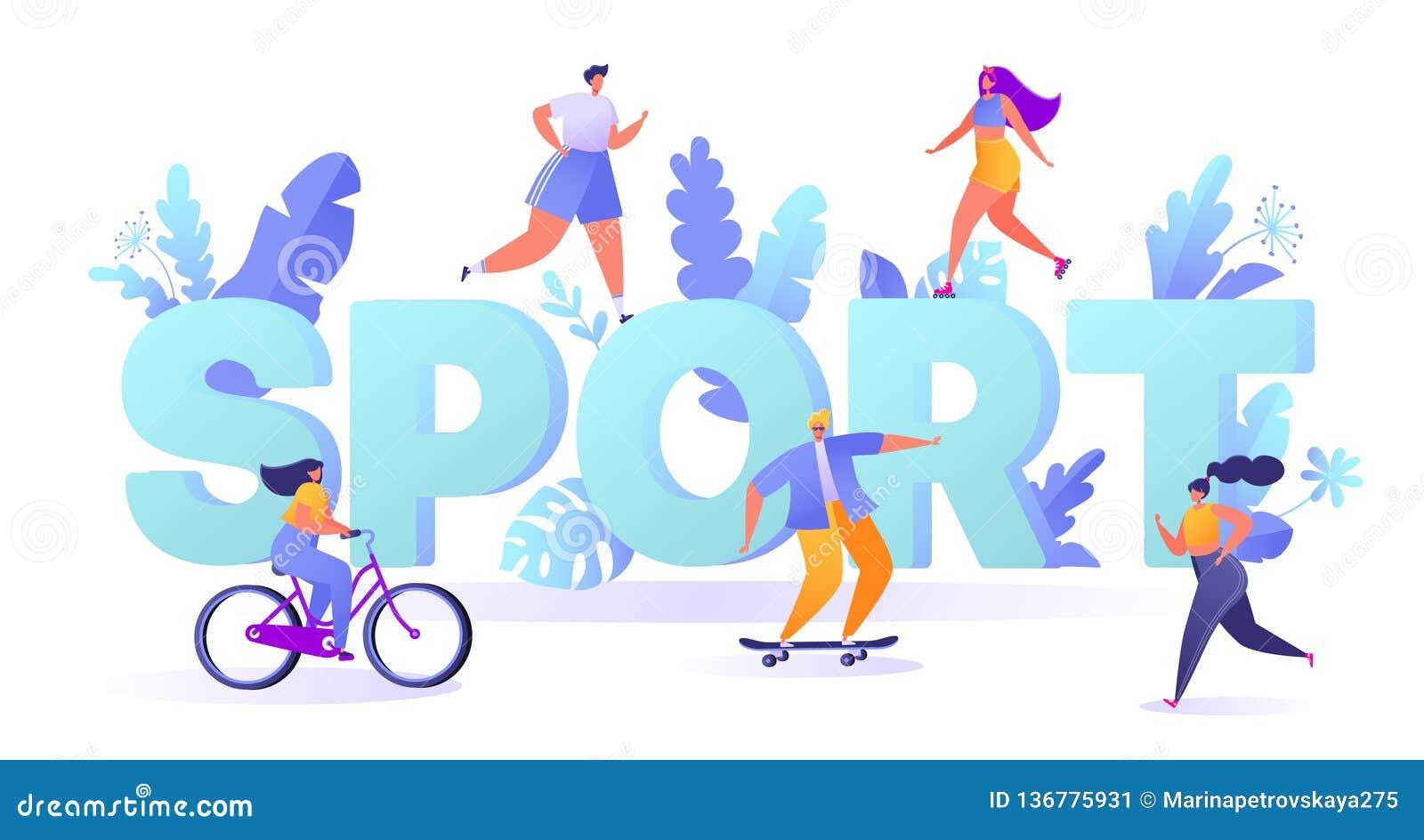 Begrepp av sportmotivationen Aktiviteter för utomhus- sportar för sommar