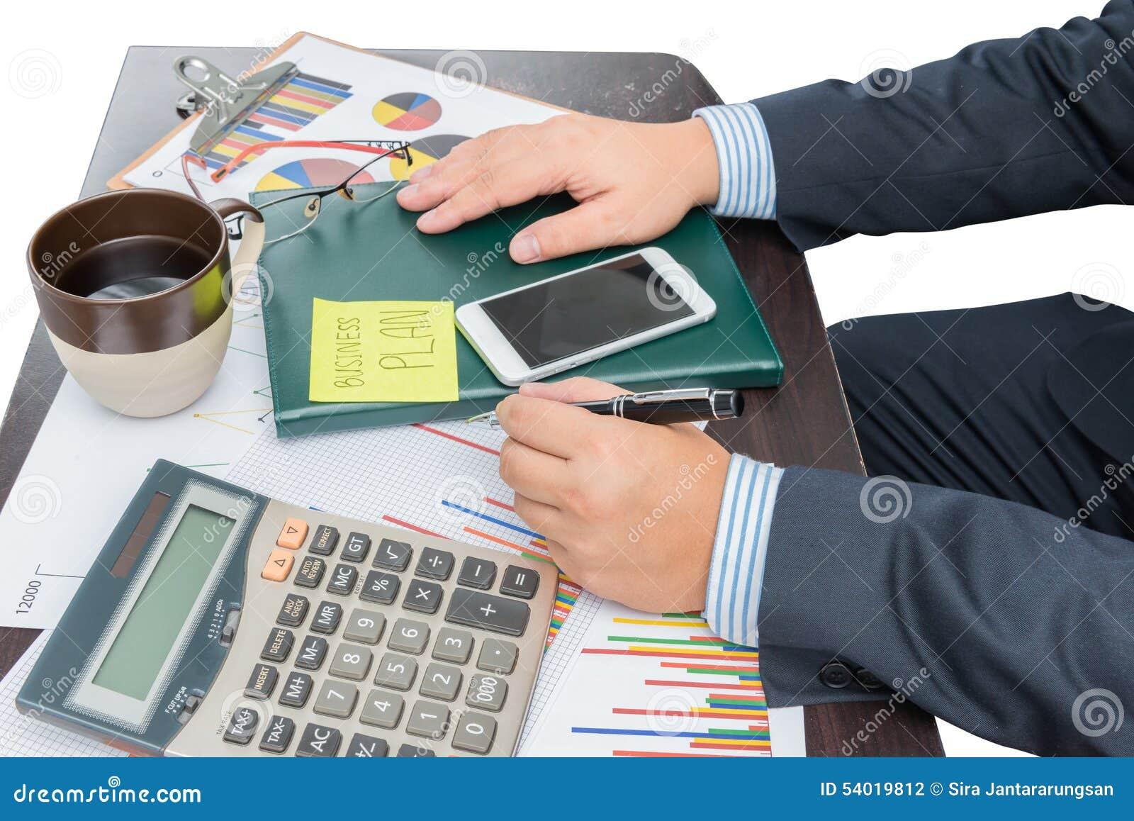 Begrepp för affärsmanWriting Business Plan tillväxt