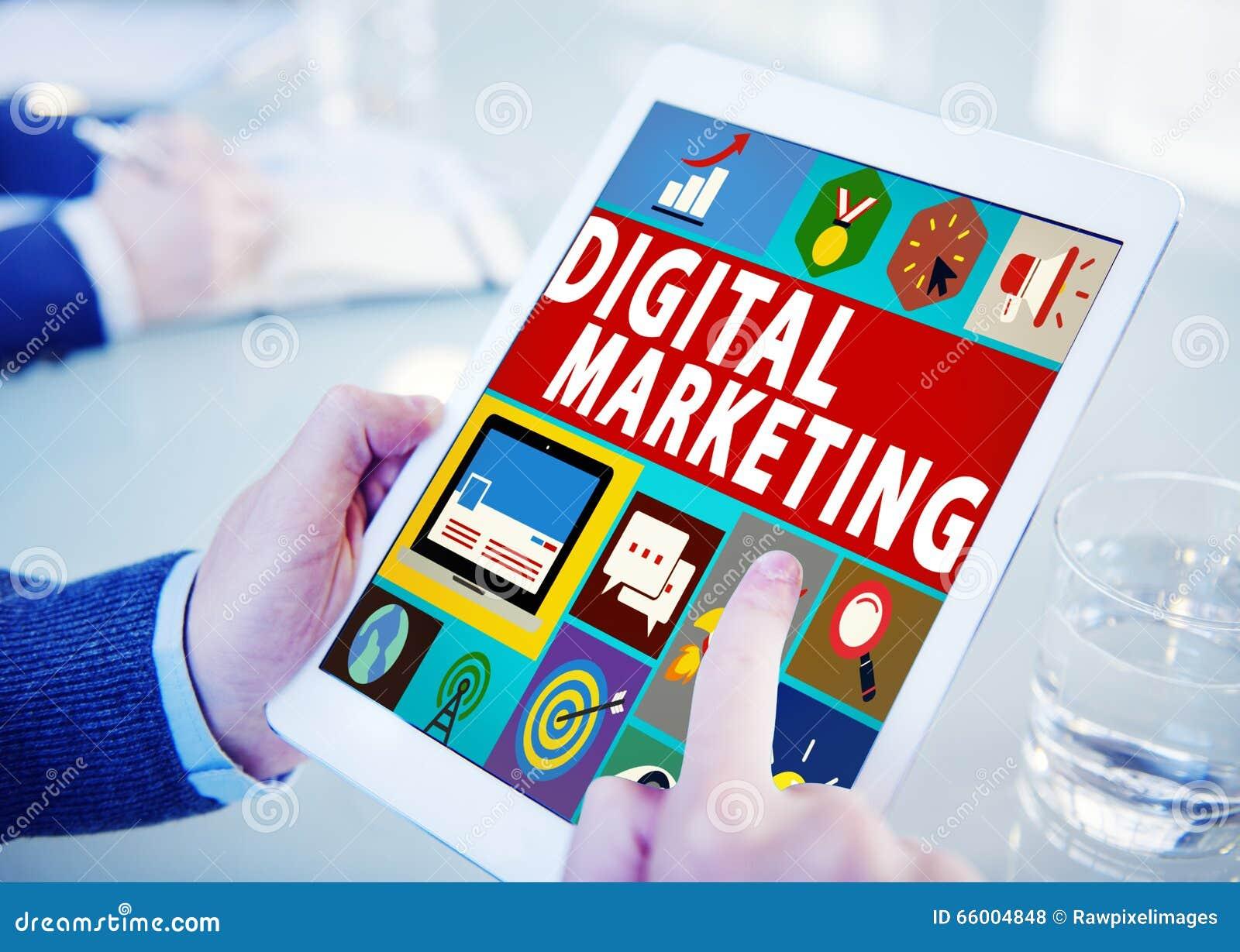 Begrepp för befordran för aktion för Digital marknadsföringskommers