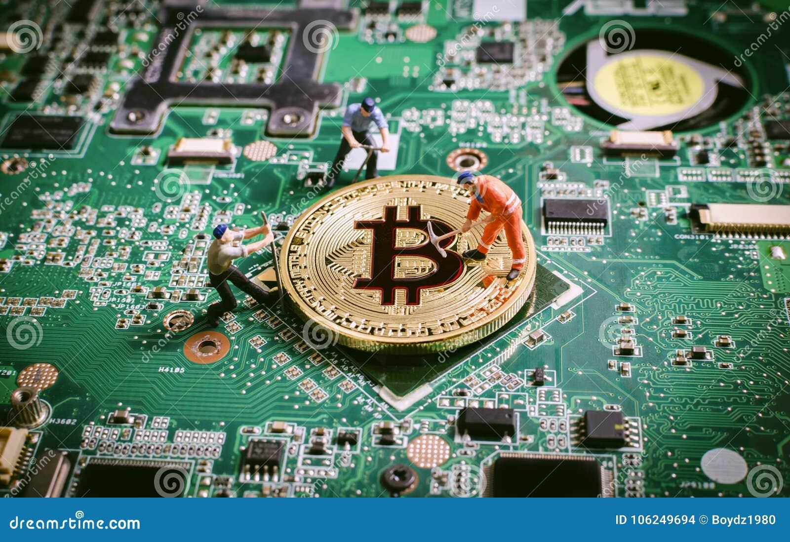 Begrepp för crytocurrencies för Bitcoin digitalt valutablockchain