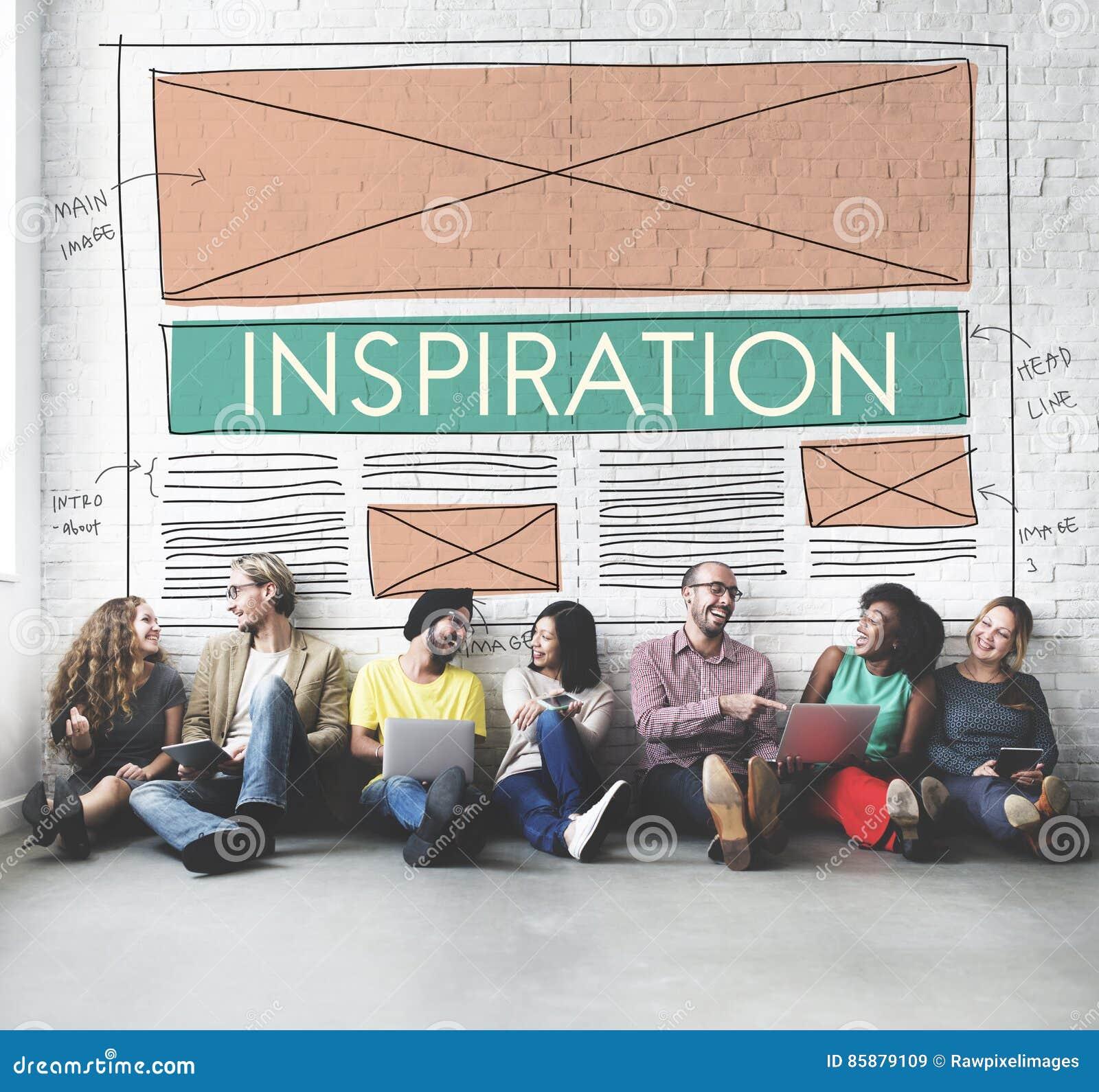 Begrepp för dröm för idérik fantasi för inspirationambition