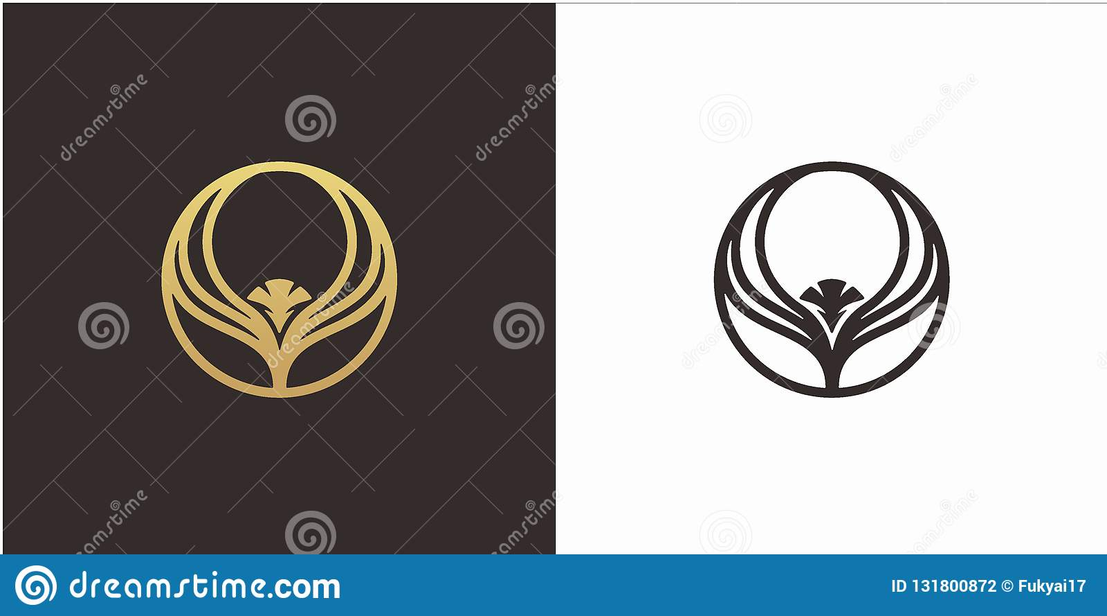 Begrepp för Eagle logodesign med den lyxiga stillogomallen