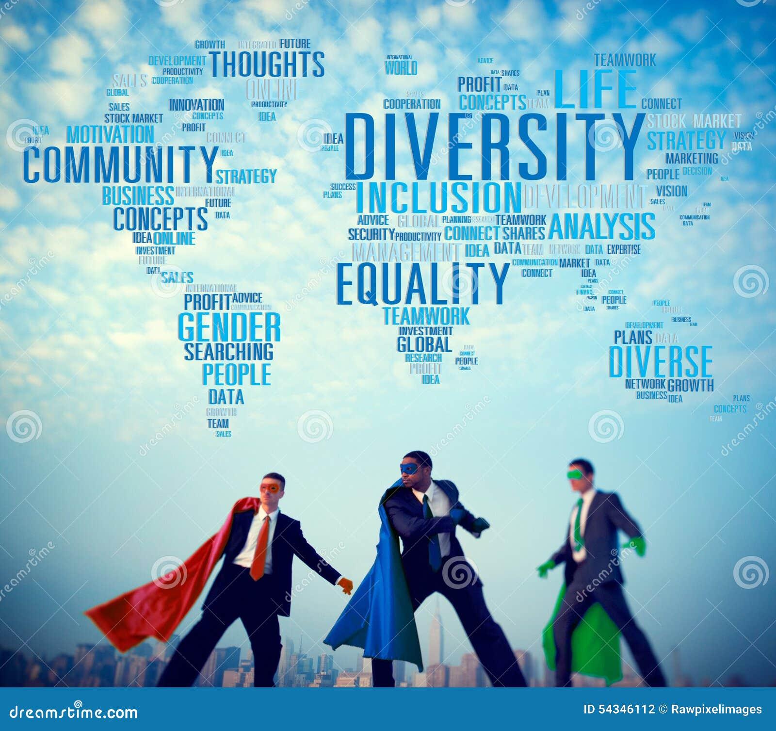 Begrepp för folk för affär för mångfaldgemenskapbefolkning