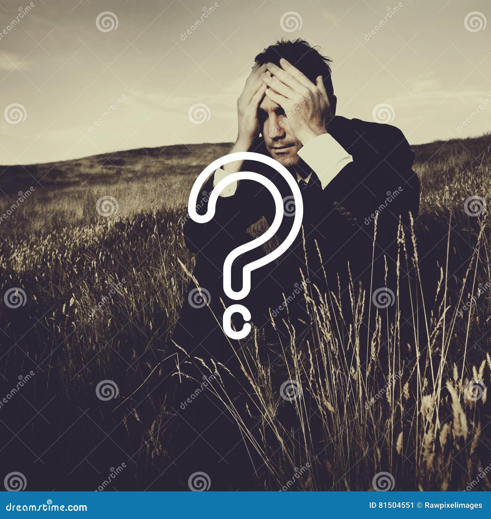 Begrepp för frågeMark Asking Confusion Thought Help FAQ