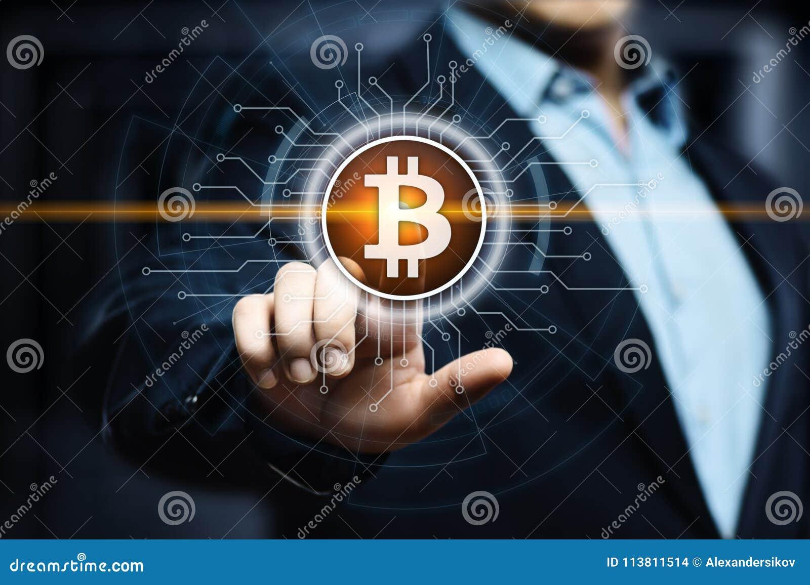 Begrepp för internet för affär för teknologi för valuta för mynt BTC Bitcoin Cryptocurrency för Digital bit
