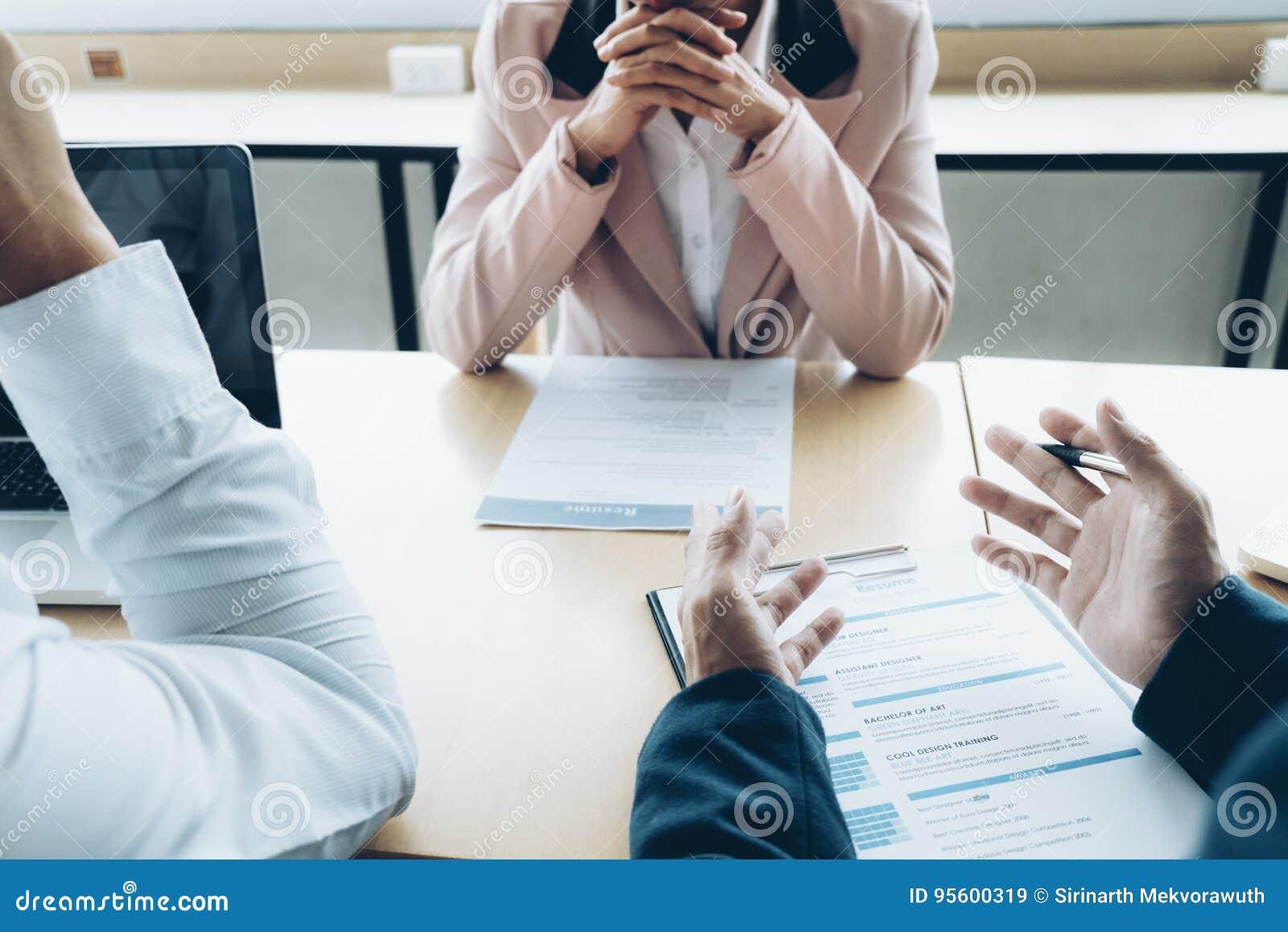 Begrepp för intervju för jobb för affärsläge Affären finner nytt jobb