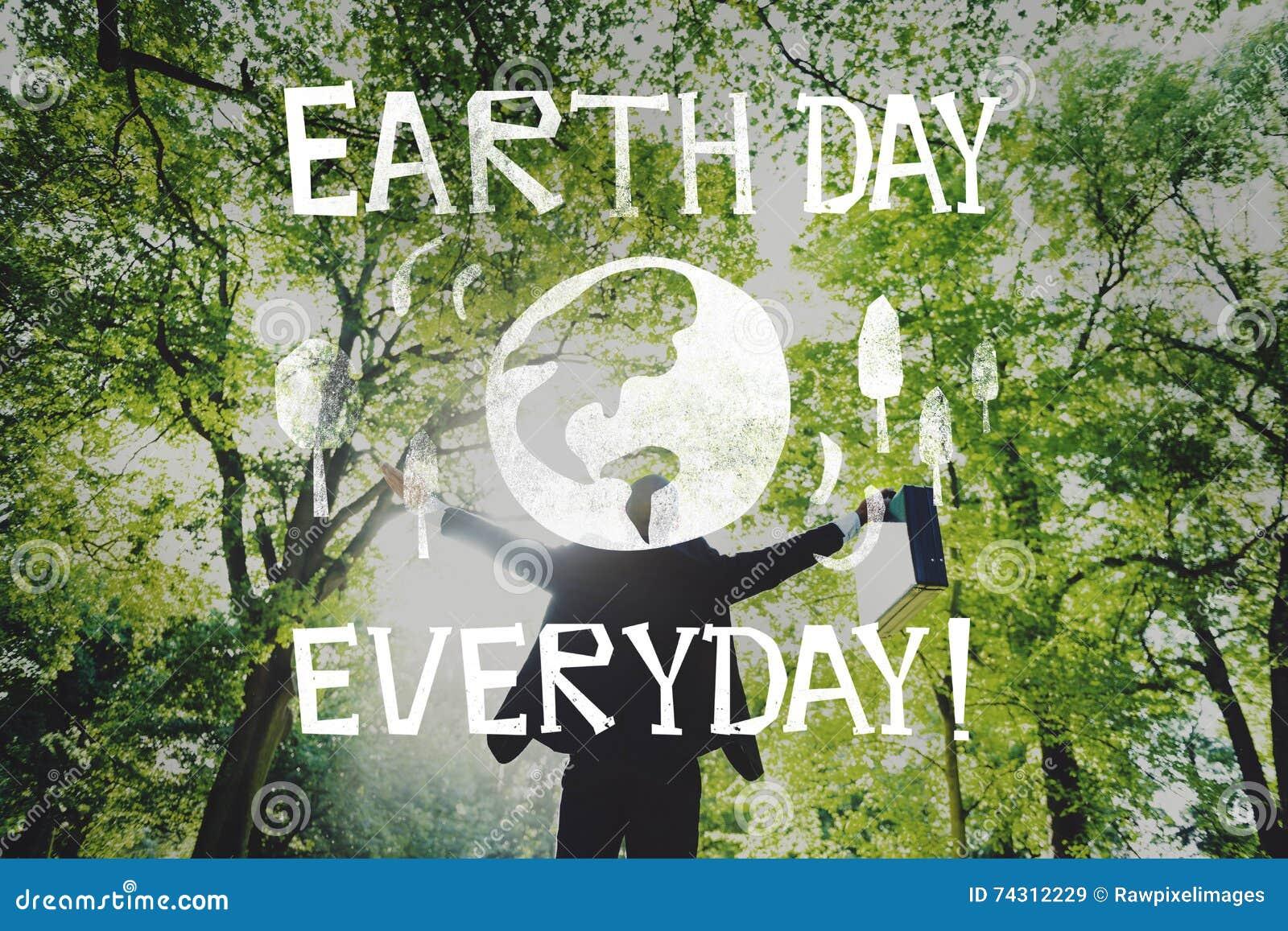 Begrepp för jord för räddning för ekologi för jorddag