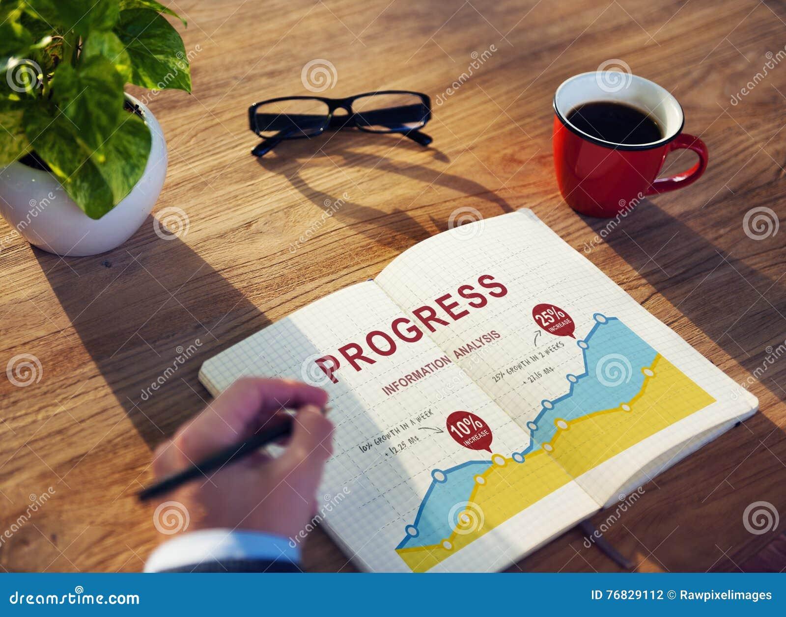 Begrepp för kapacitet för analys för rapport för tillväxt för affärsdata
