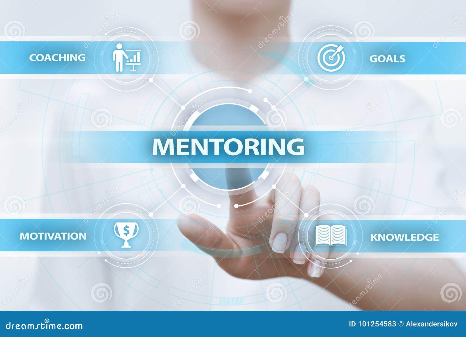 Begrepp för karriär för framgång för coachning för Mentoringaffärsmotivation