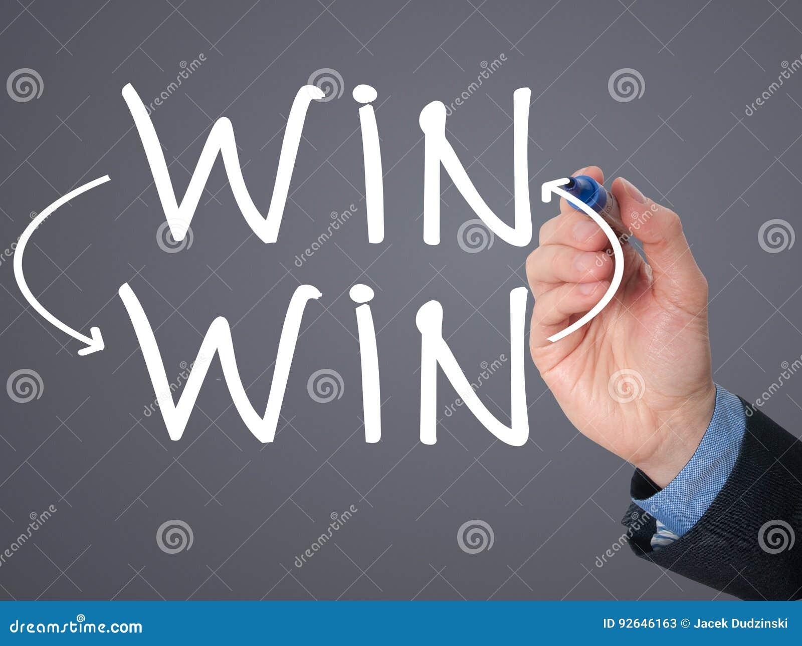 Begrepp för läge för seger för seger för affärsmanhandteckning med markörnolla