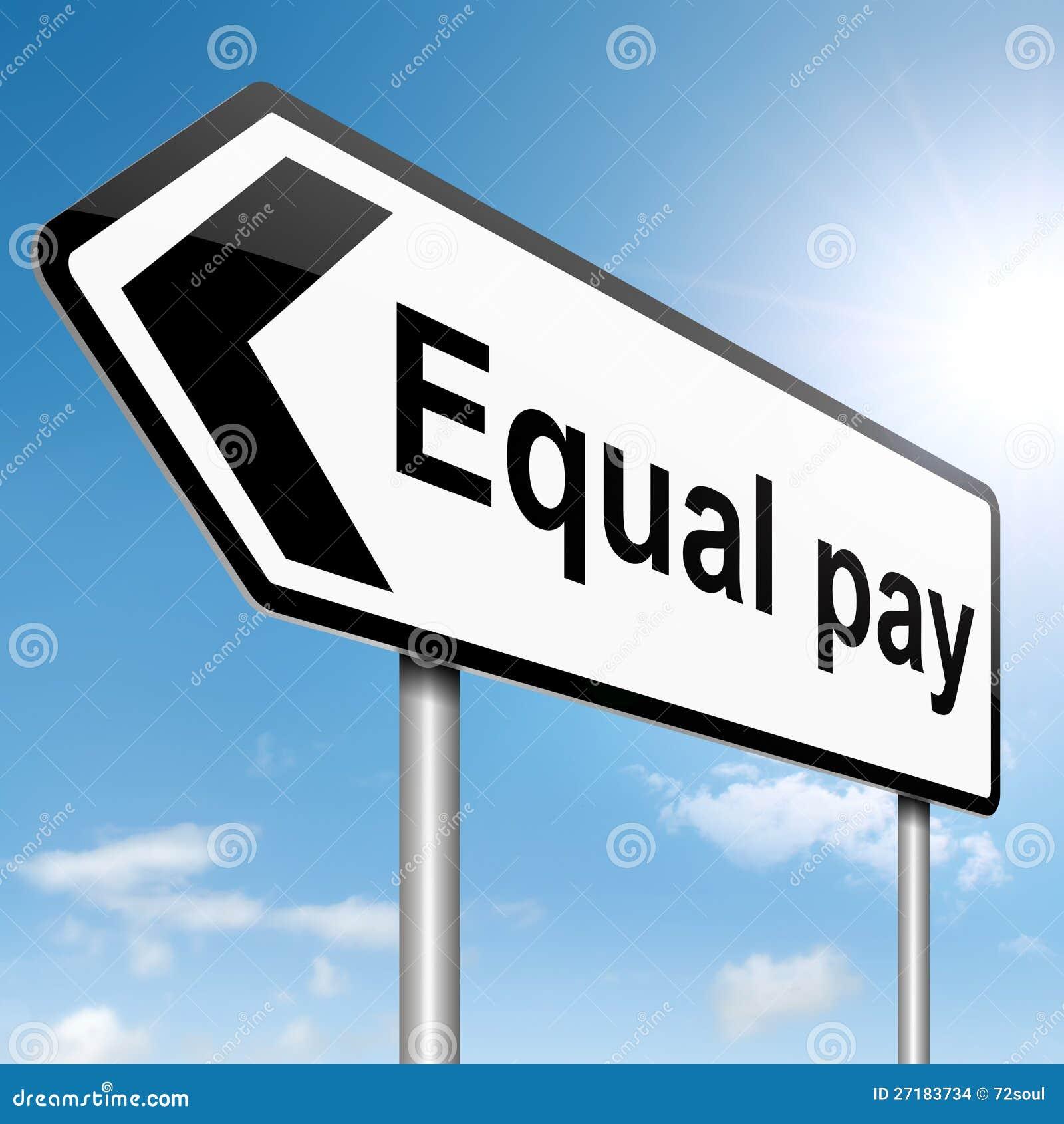 Begrepp för lika pay.