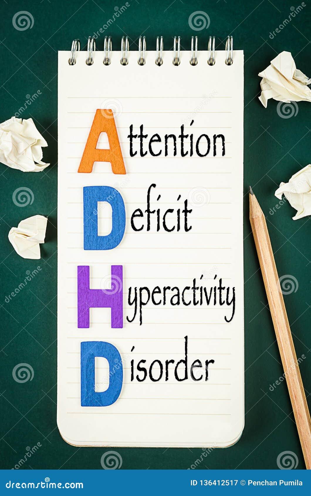Begrepp för oordning för hyperactivity för underskott för ADHD-—uppmärksamhet