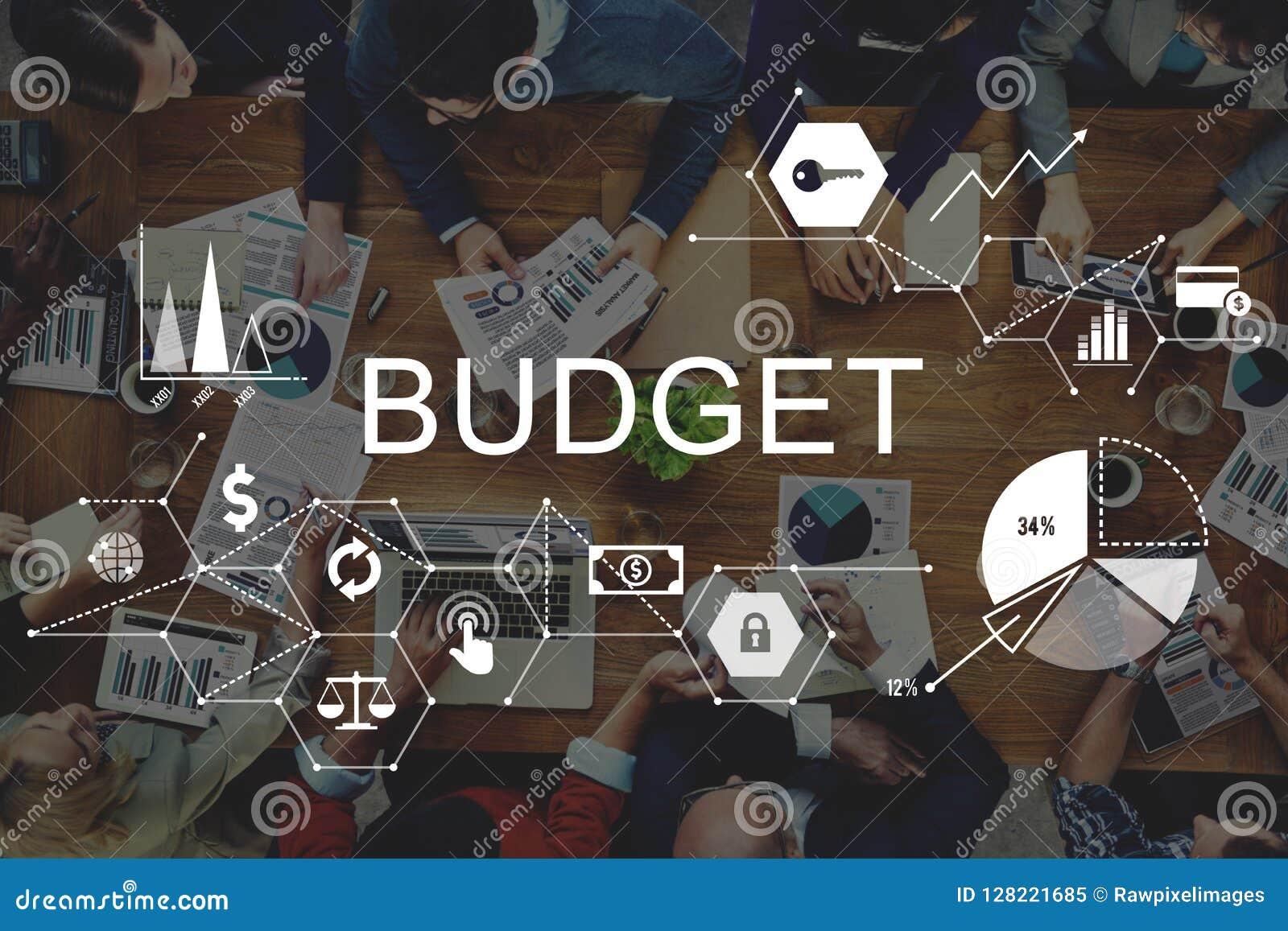 Begrepp för pengar för investering för budgethuvudfinansekonomi