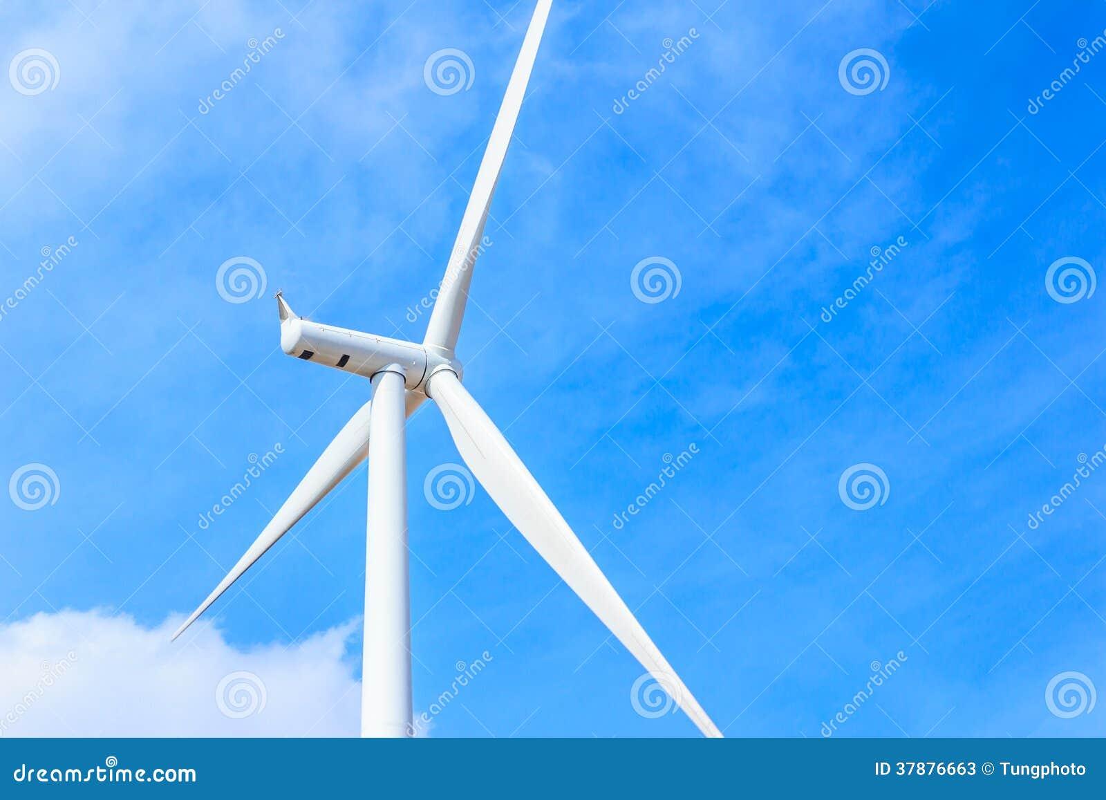 Begrepp för ren energi för vindturbin