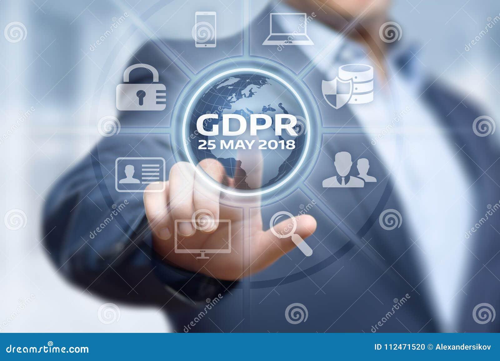 Begrepp för teknologi för internet för affär för reglering för skydd för allmänna data för GDPR